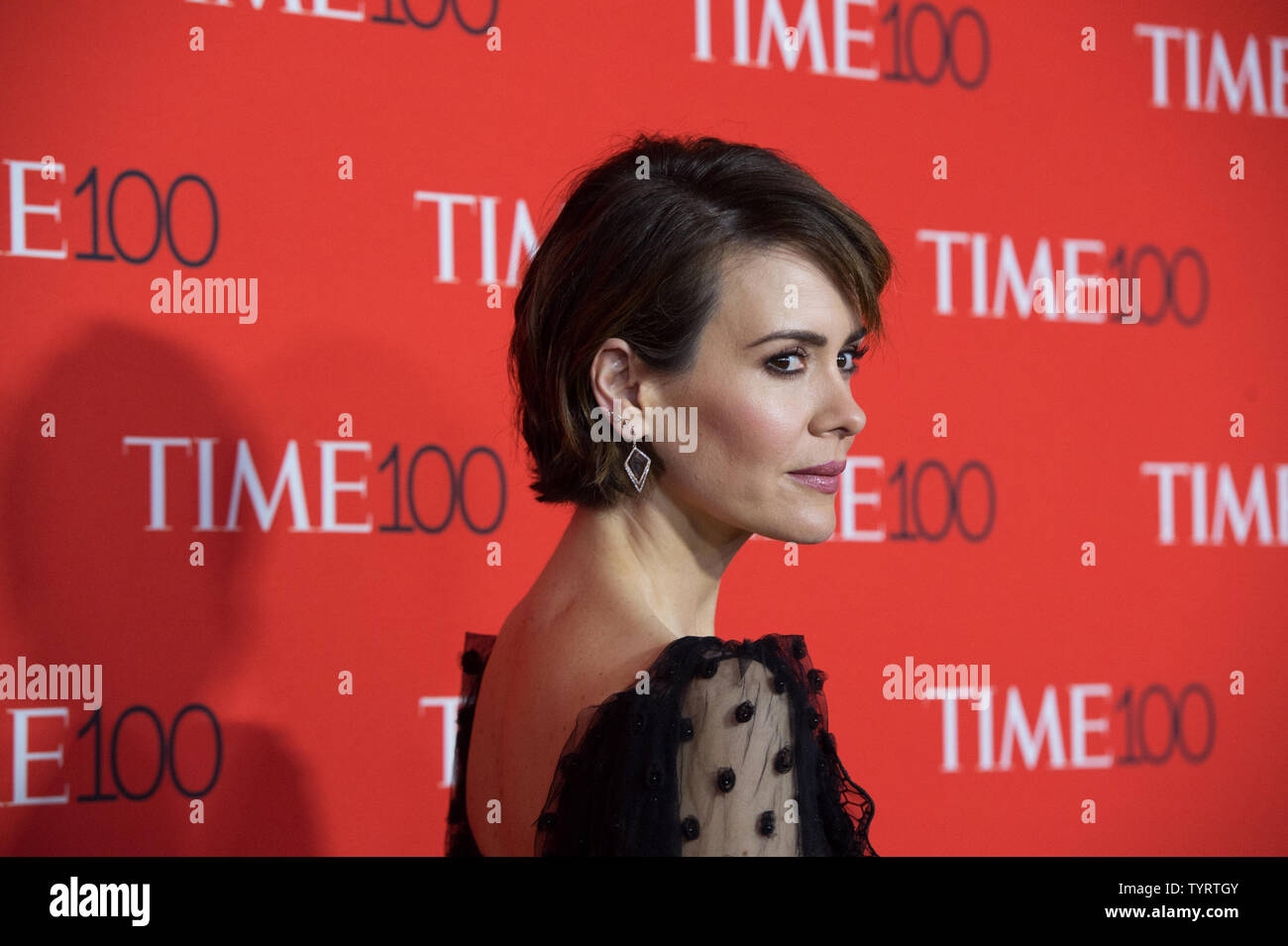 Sarah Paulson arrives on the red carpet at the TIME 100 Gala at