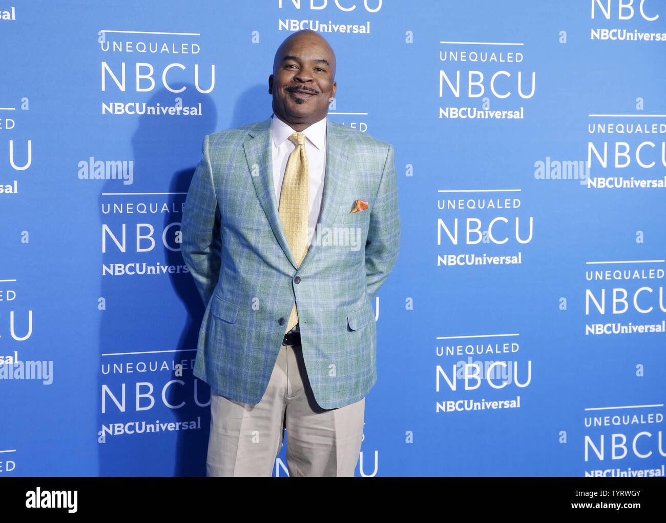 David Alan Grier arrives on the red carpet at the 2017 NBCUniversal Upfront at Radio City Music Hall on May 15, 2017 in New York City.   Photo by John Angelillo/UPI - Stock Image