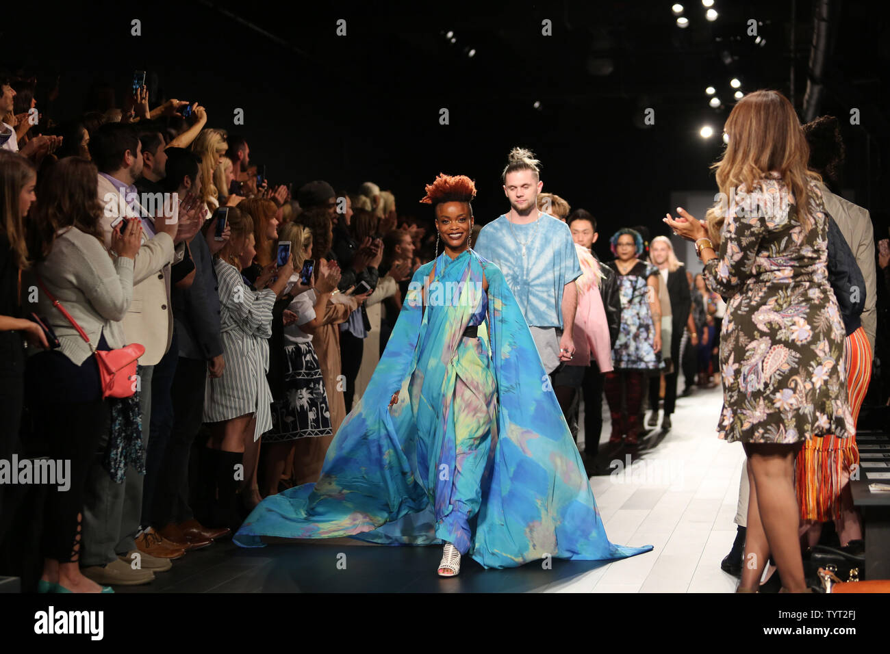 Designers Walk On The Runway At The Project Runway Fashion Show During New York Fashion Week At Skylight Clarkson Sq Gallery 1 On September 8 2017 In New York City Photo By