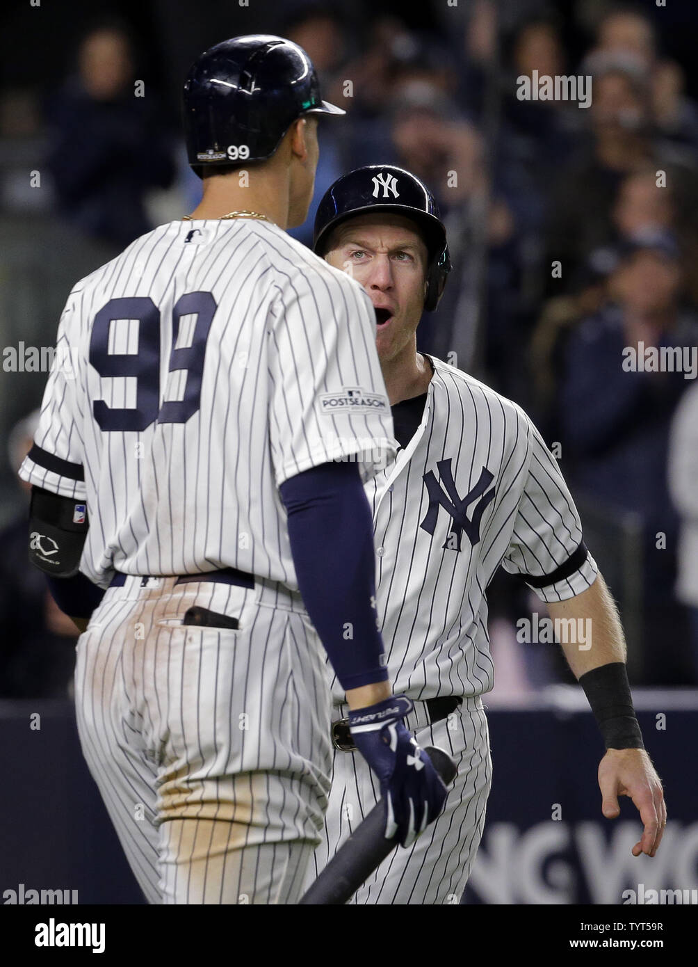 half off 65a64 1e1af New York Yankees third baseman Todd Frazier celebrates with ...