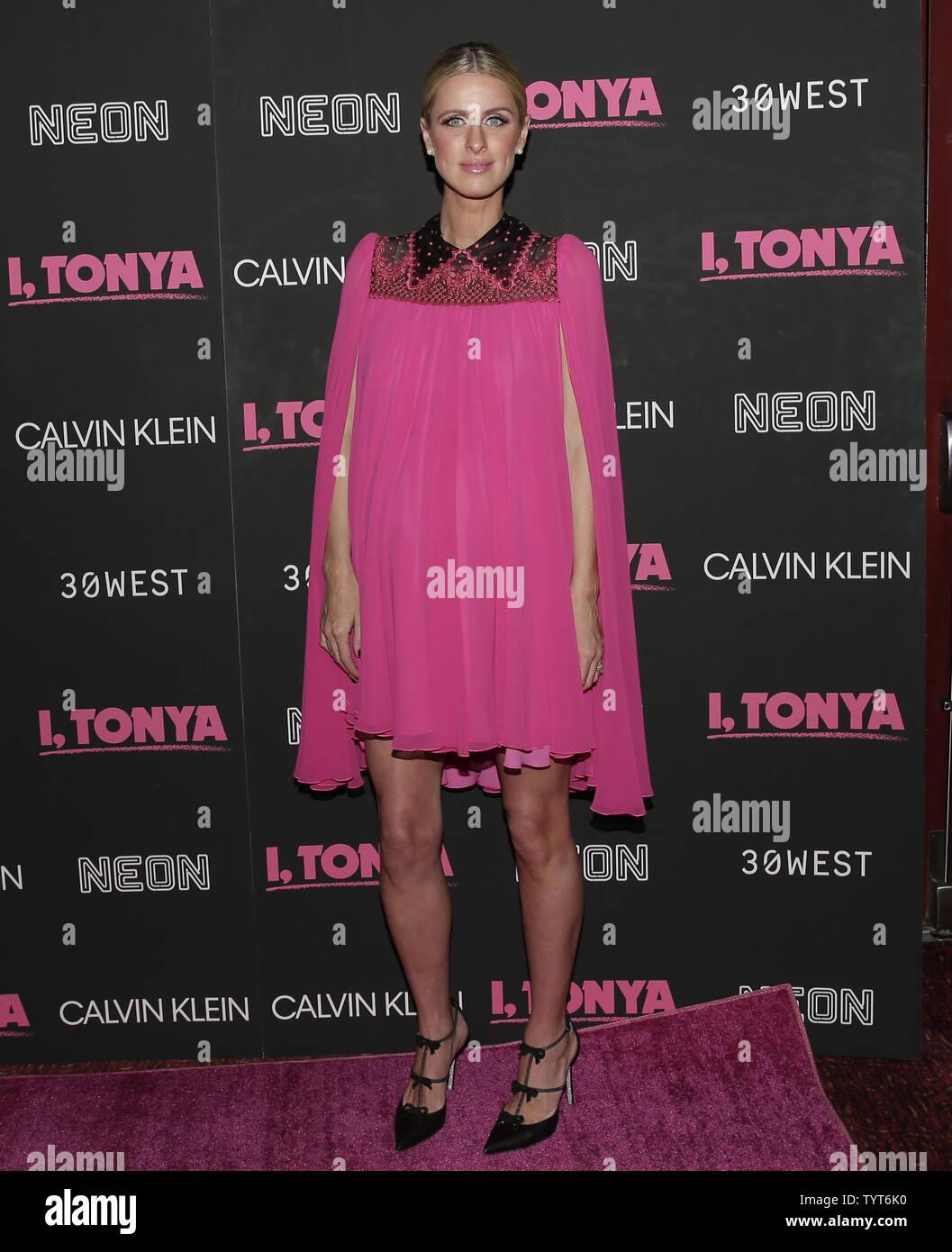 Nicky Hilton Rothschild arrives on the red carpet at the 'I, Tonya' New York Premiere at Village East Cinema on November 28, 2017 in New York City.    Photo by John Angelillo/UPI - Stock Image