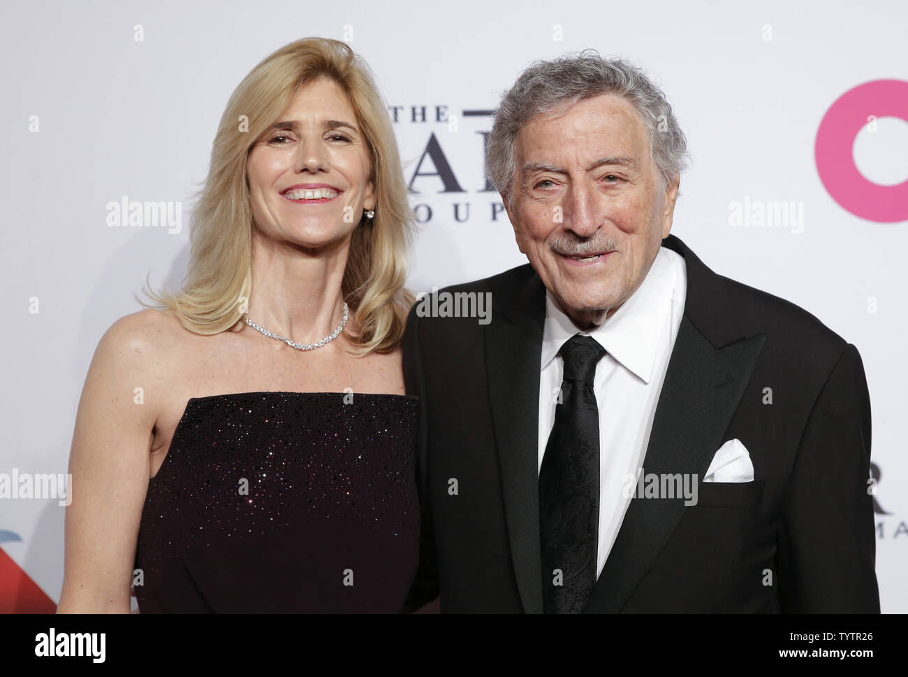 Susan Crow and Tony Bennett arrives on the red carpet at the Elton John AIDS Foundation's 17th Annual An Enduring Vision Benefit at Cipriani 42nd Street on November 5, 2018 in New York City.       Photo by John Angelillo/UPI - Stock Image