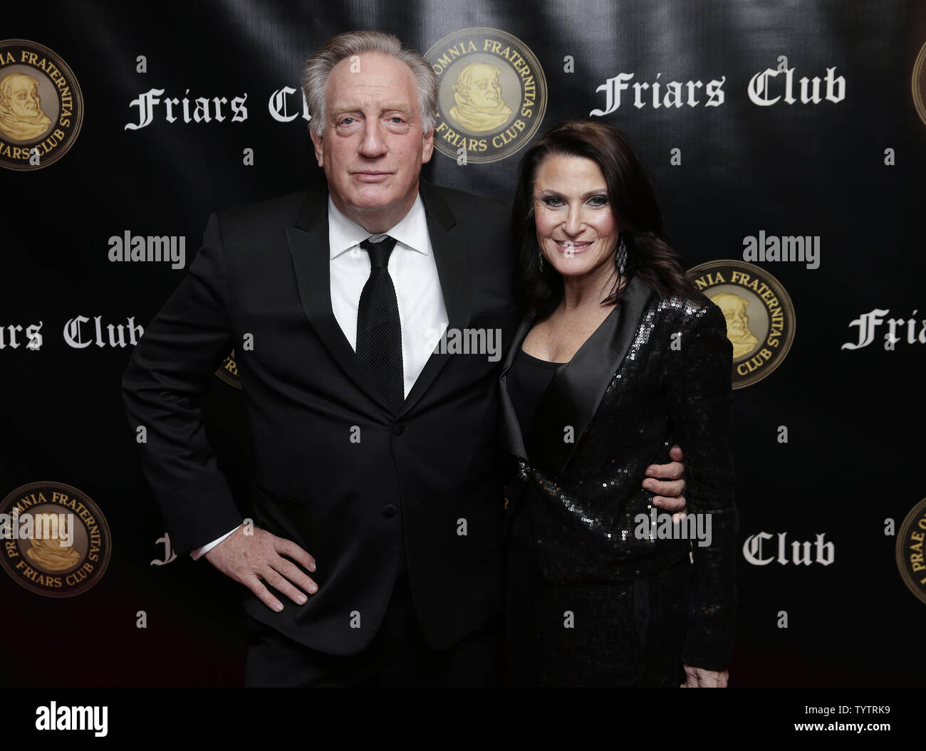 Alan Zweibel arrives on the red carpet when the Friar's Club Honors Billy Crystal with their Entertainment Icon Award at The Ziegfeld Ballroom on November 12, 2018 in New York City.       Photo by John Angelillo/UPI - Stock Image