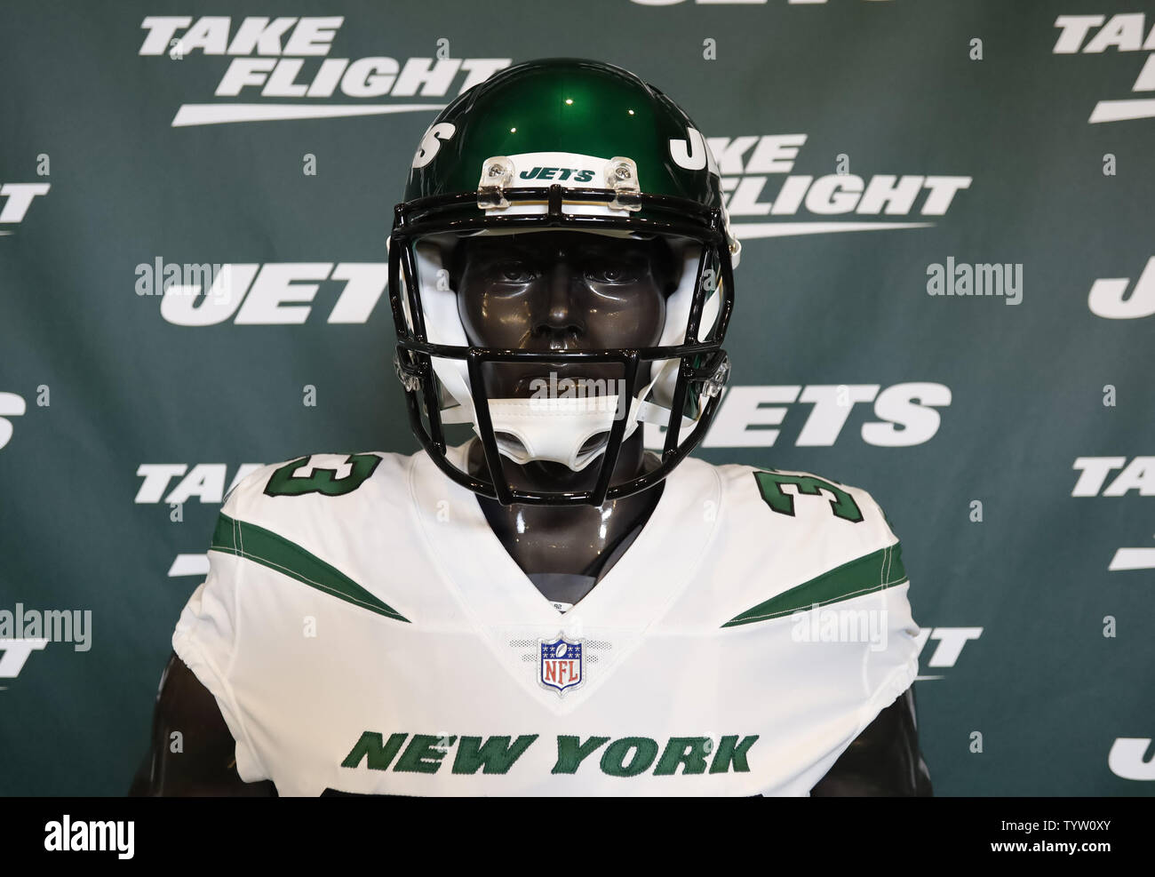 official photos d55f5 ad47b New York Jets new NFL football uniforms are on display when ...