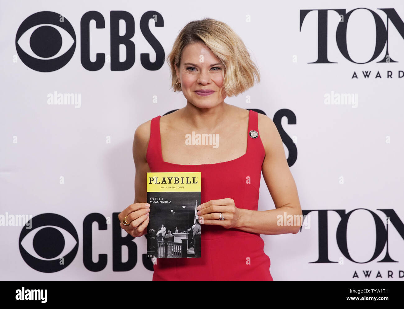 Celia Keenan-Bolger arrives on the red carpet at The 73rd Annual Tony Awards Meet The Nominees Press Day on May 01, 2019 in New York City.   Photo by John Angelillo/UPI - Stock Image