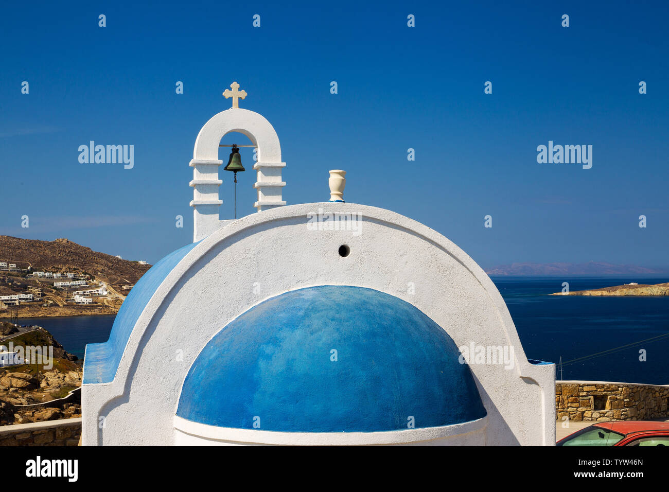 Famous White Churches And Buildings On Greek Islands Aegean