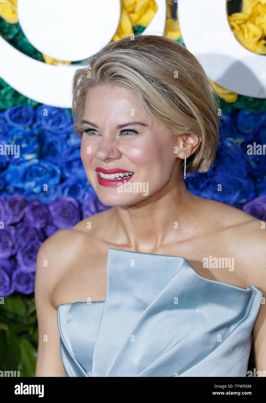 Celia Keenan-Bolger arrives on the red carpet at The 73rd Annual Tony Awards at Radio City Music Hall on June 9, 2019 in New York City.   Photo by John Angelillo/UPI - Stock Image