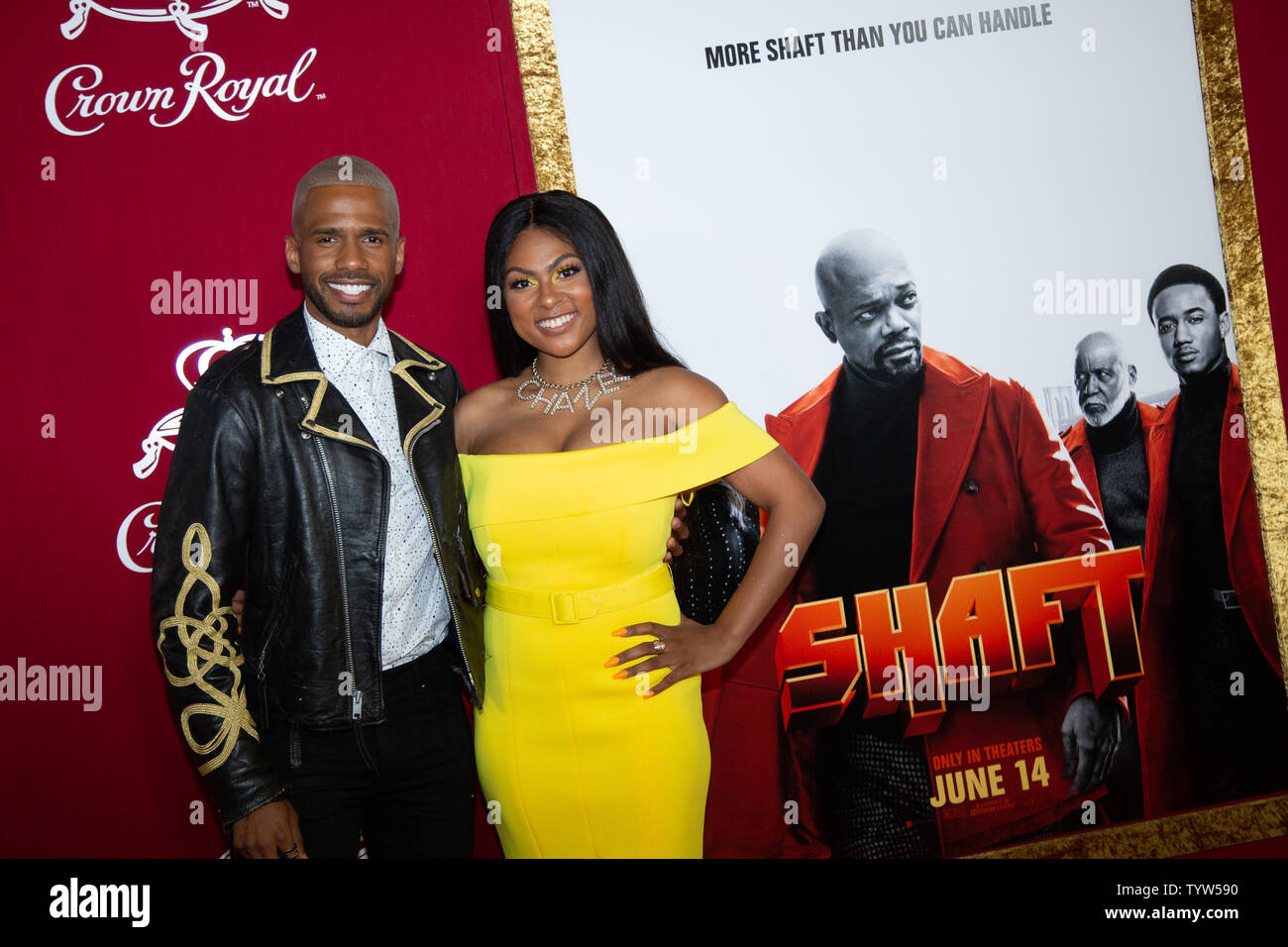 Eric West and Amanda Seales arrive on the red carpet at the