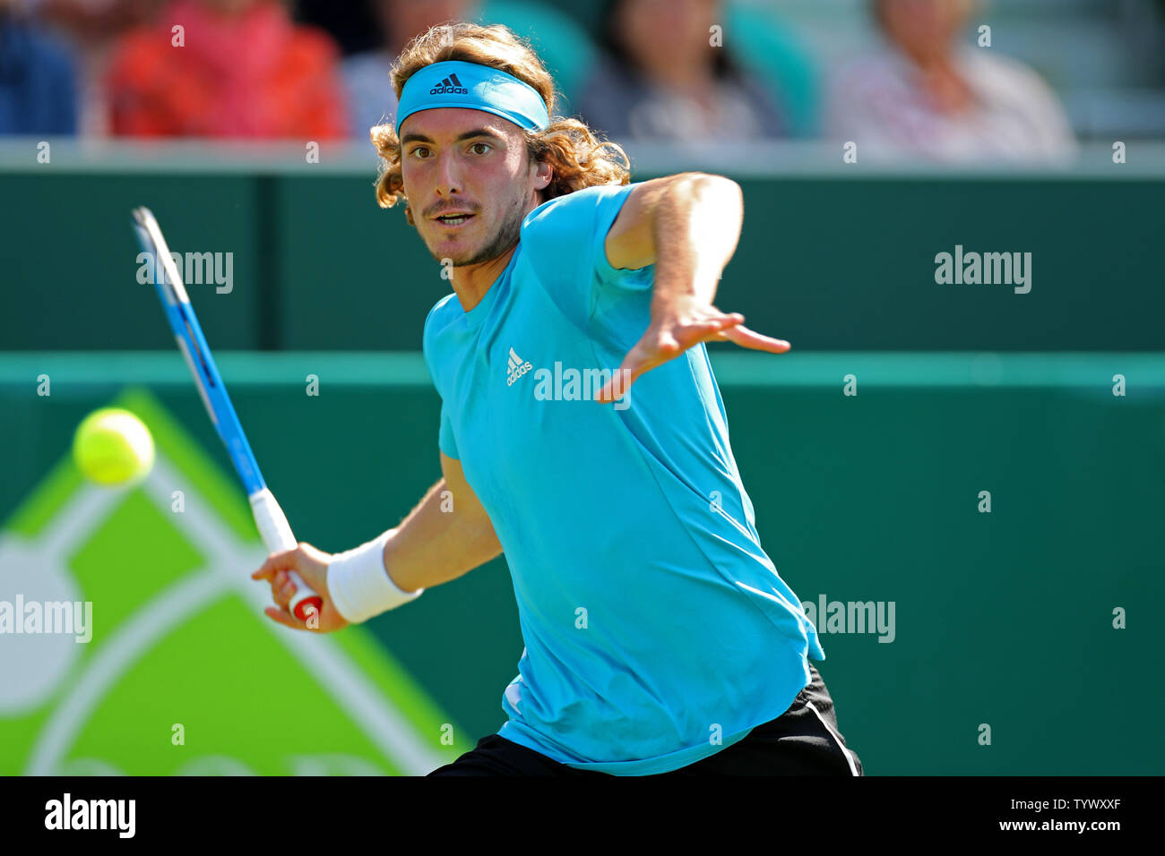 Stoke Poges England 26th June Stefanos Tsitsipas Gre Plays A Forehand During The Boodles Tennis Challenge
