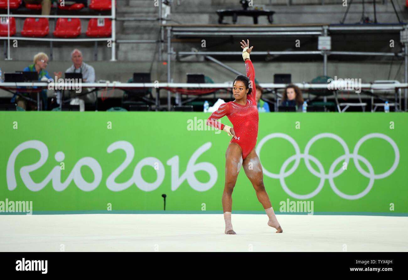 U S Women S Gymnastics Member Gabby Douglas Practices Her