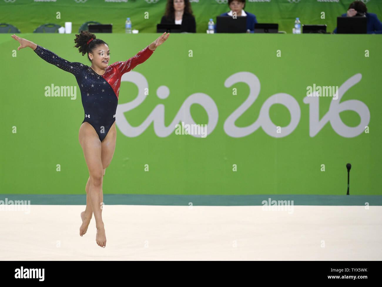American Gymnast Lauren Hernandez Performs Her Routine In