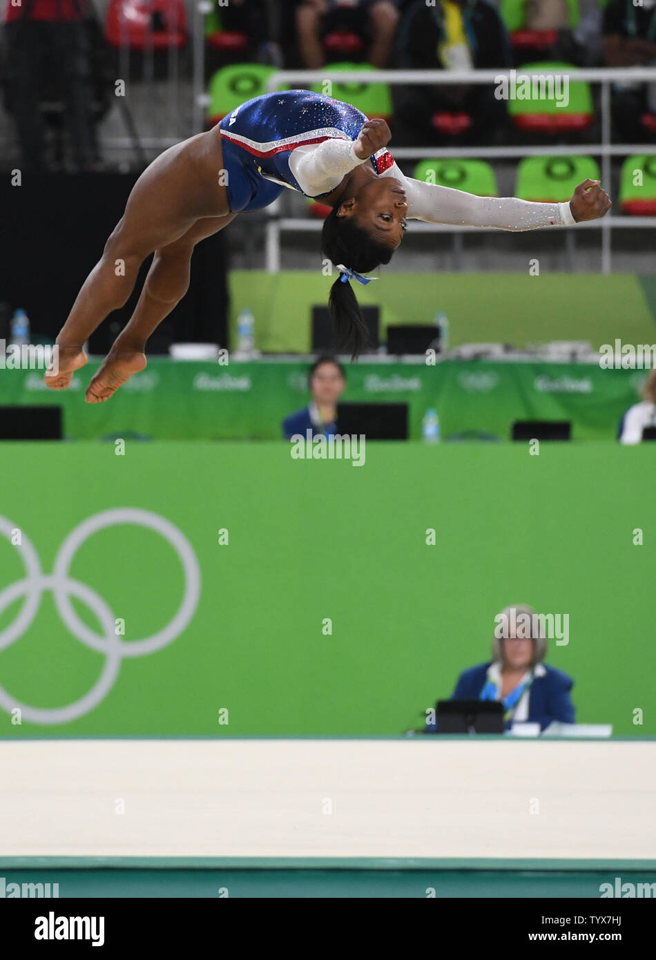 Simone Biles Competes In The Floor Exercise In The Women S