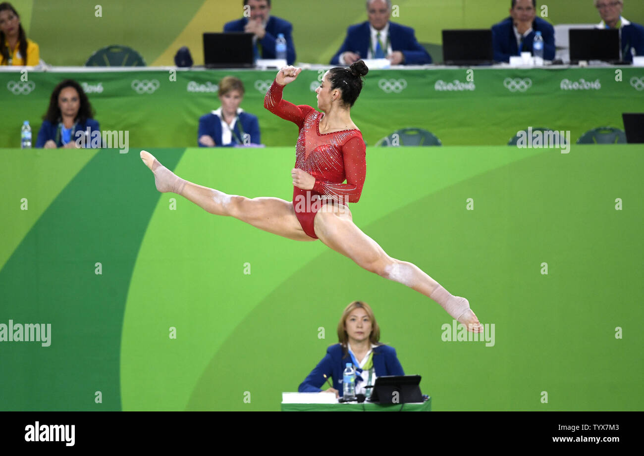 American Gymnast Aly Raisman Performs Her Routine In The
