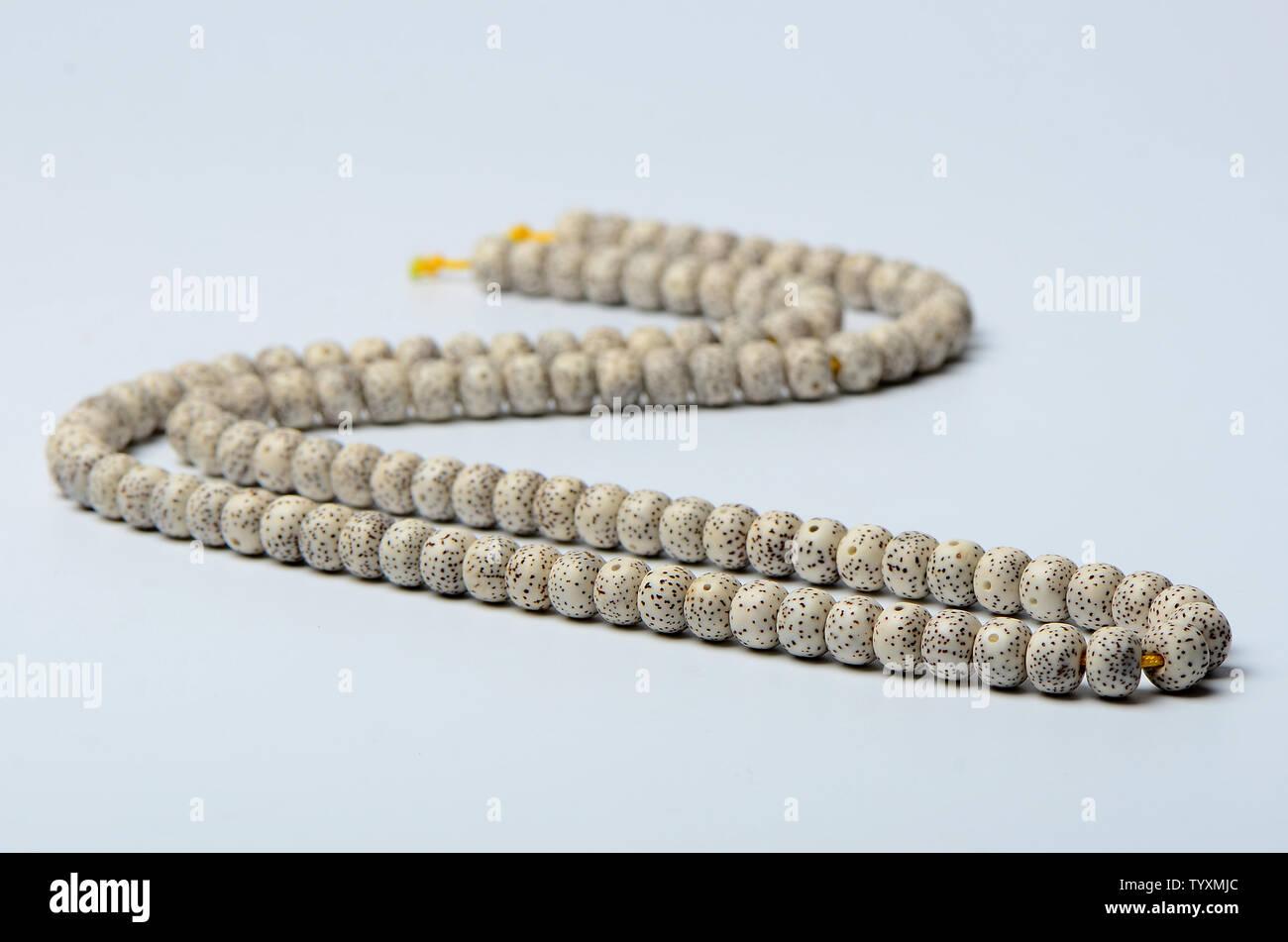 108 stars, moon, Bodhi handstring Stock Photo