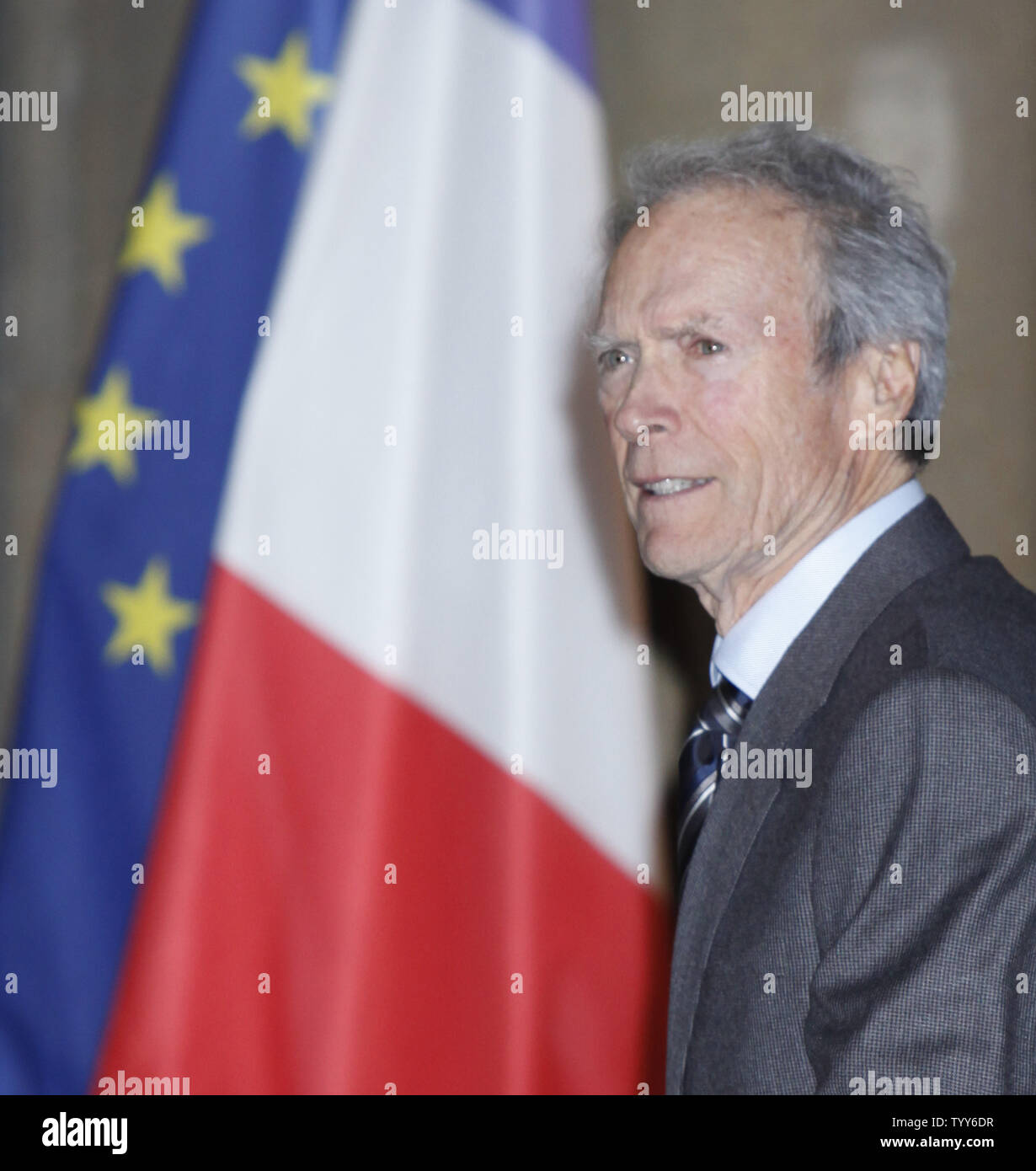 Actor Director Clint Eastwood Arrives Stock Photos & Actor