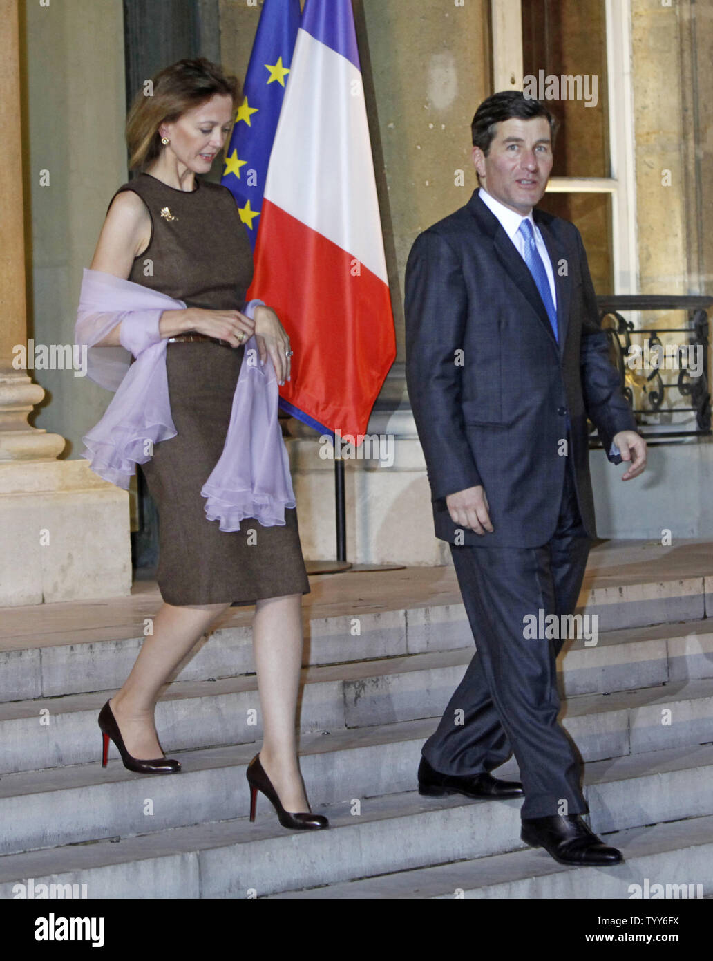 American Ambassador to France Charles Rivkin and his wife