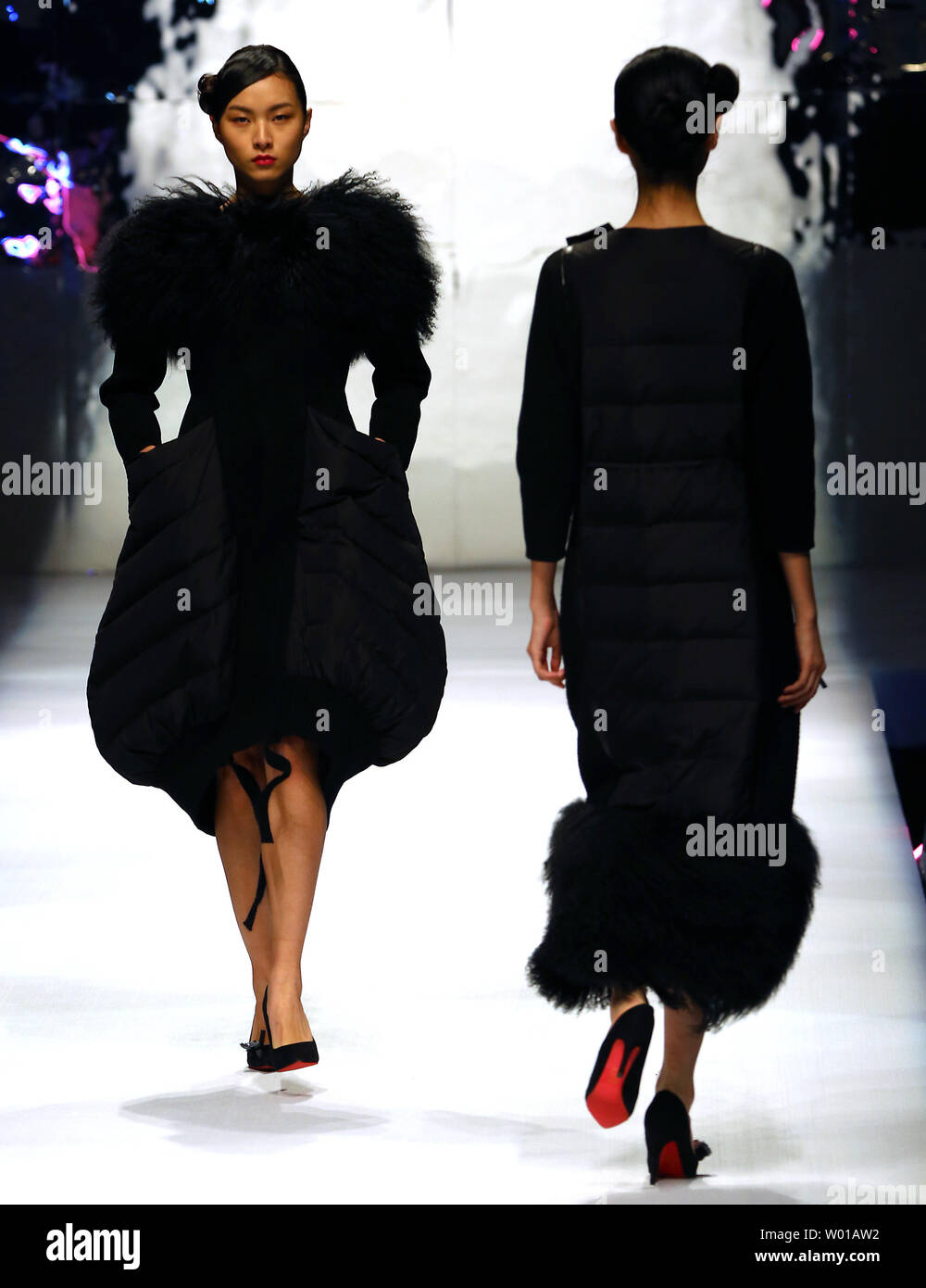 Models Showcase Fashion Designs By Zoual Yanti During China S Fashion Week In Beijing On March 31