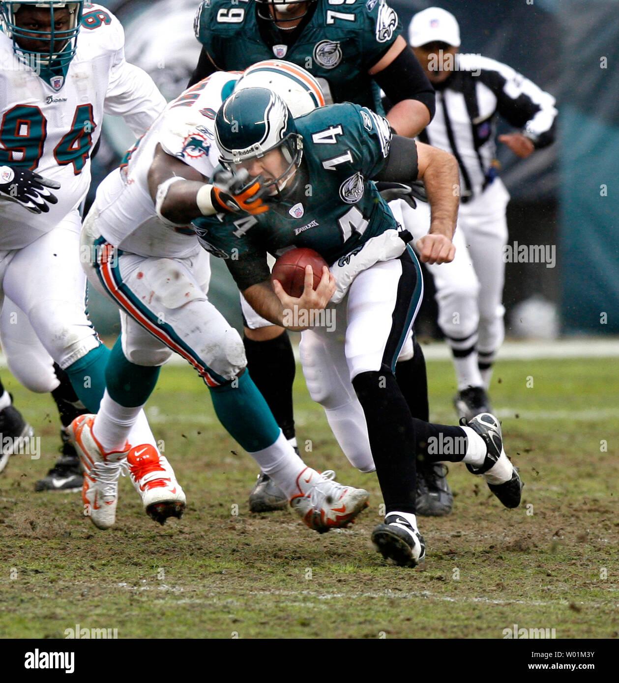 Philadelphia Eagles Backup Quarterback A J Feeley 14 Is