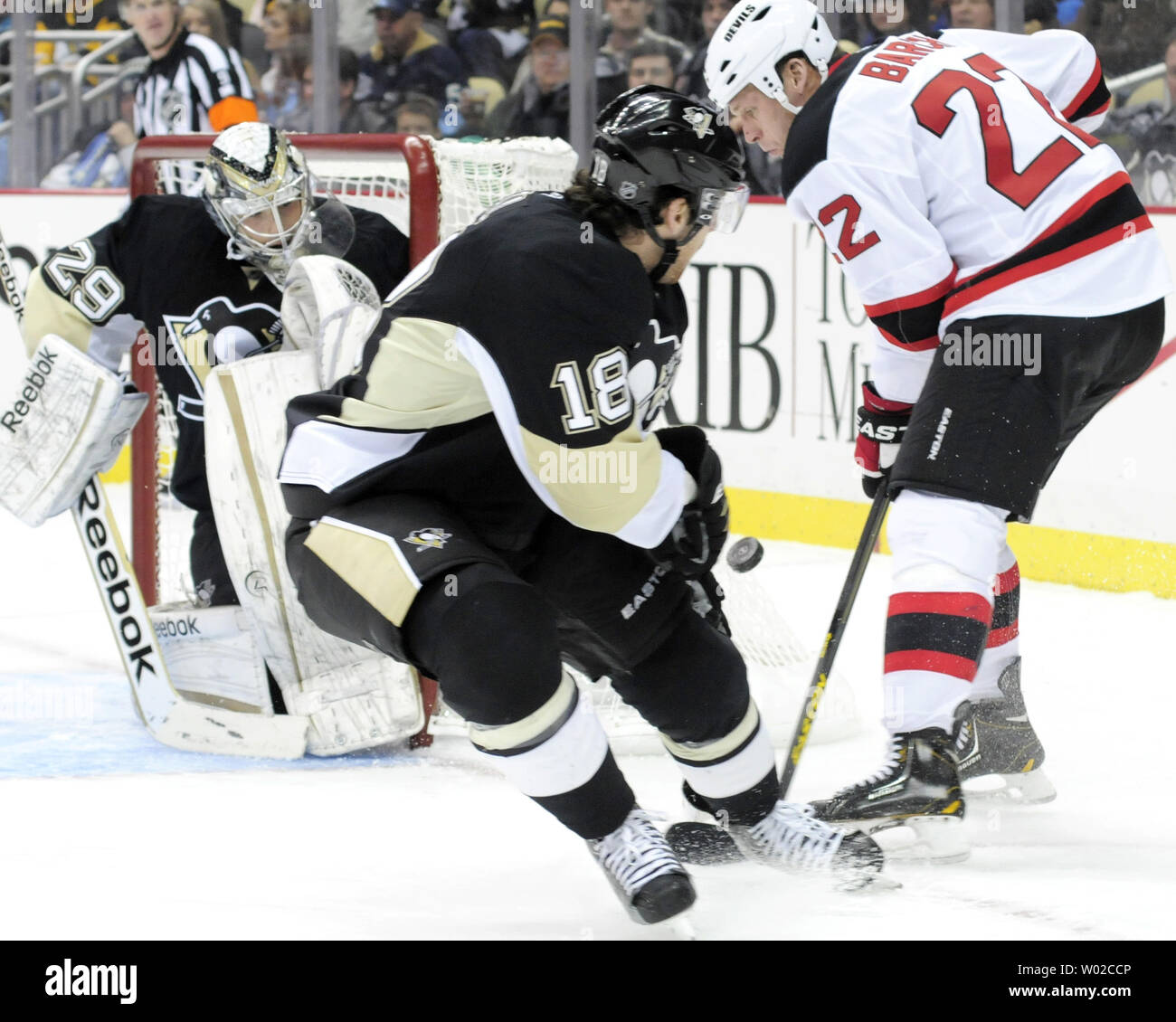 new concept 8f6ce 507a1 Pittsburgh Penguins James Neal skates pass New Jersey Devils ...