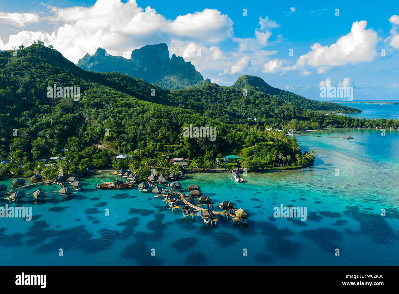 Bora Bora Aerial Drone Video Of Travel Vacation Paradise