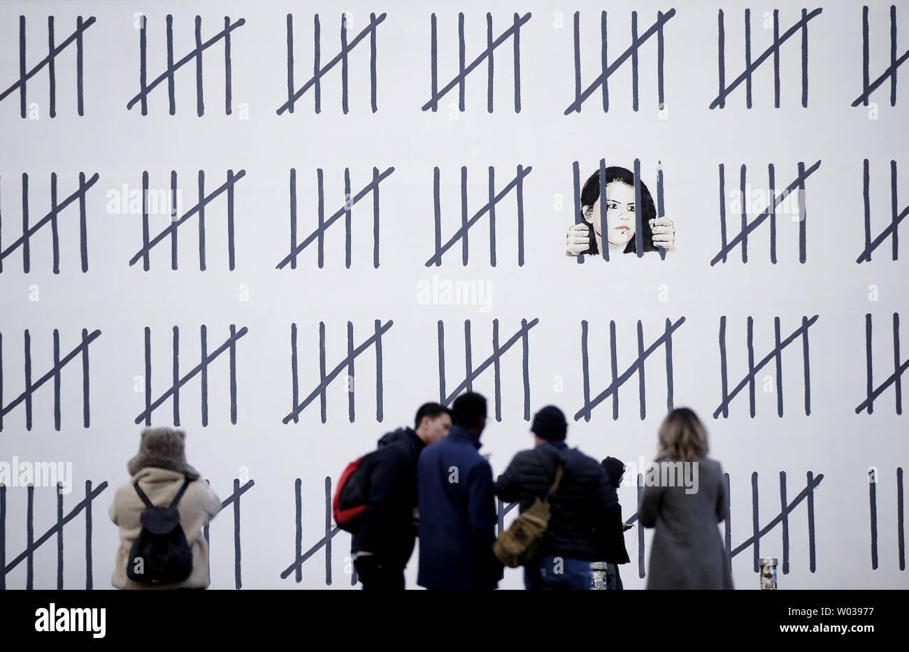 A mural on Houston Street in Manhattan highlighting the case