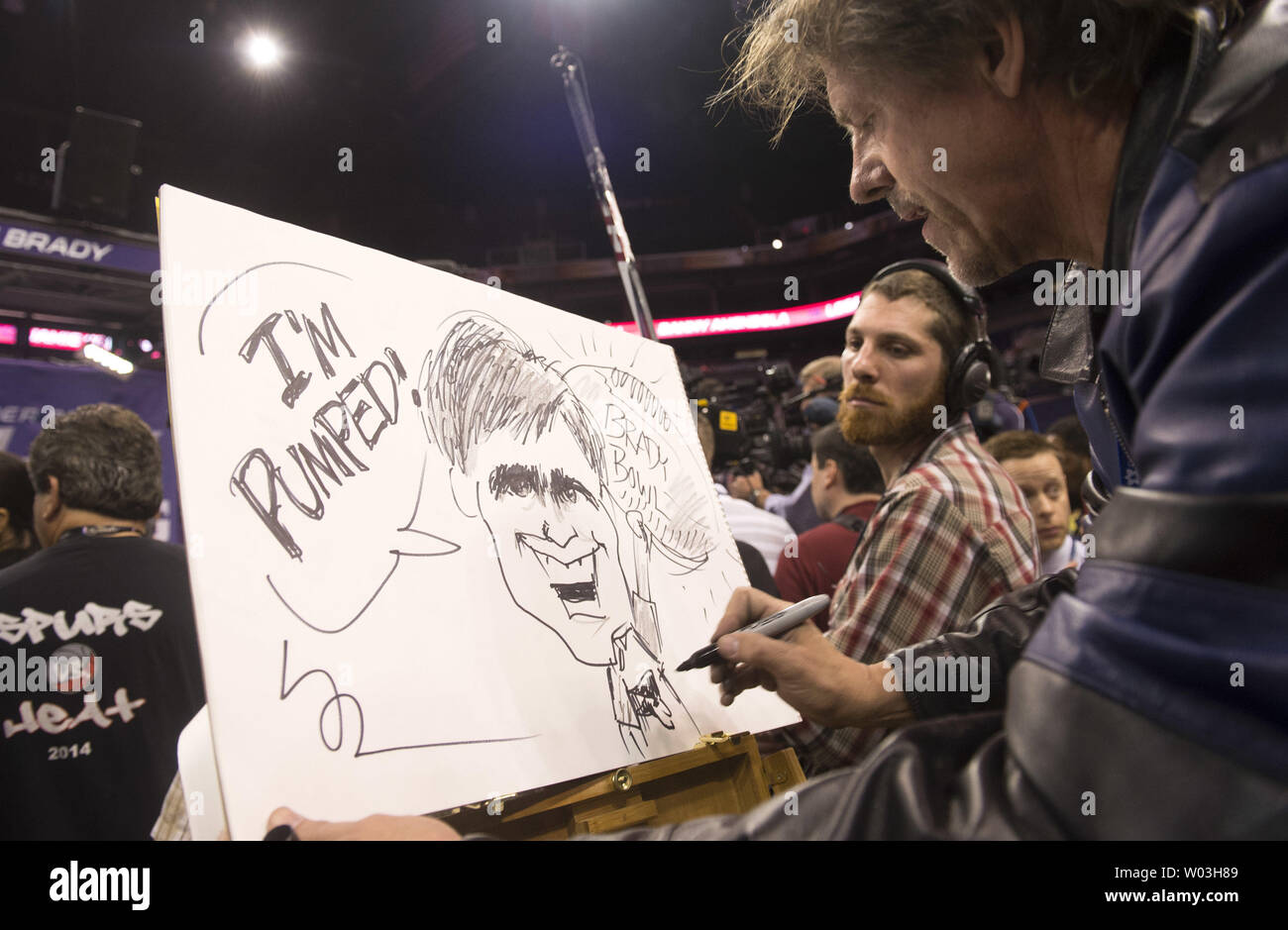 san francisco 30bde d7224 A cartoonist draws a caricature of New England Patriots ...