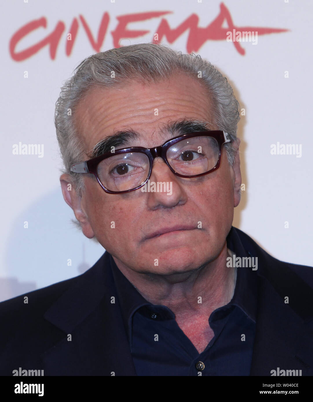 Martin Scorsese arrives at a photocall for the film 'La Dolce Vita' during the 5th Rome International Film Festival in Rome on October 30, 2010.  Scorsese was in Rome to officially present a digitally restored version of the 1960 classic film.   UPI/David Silpa - Stock Image