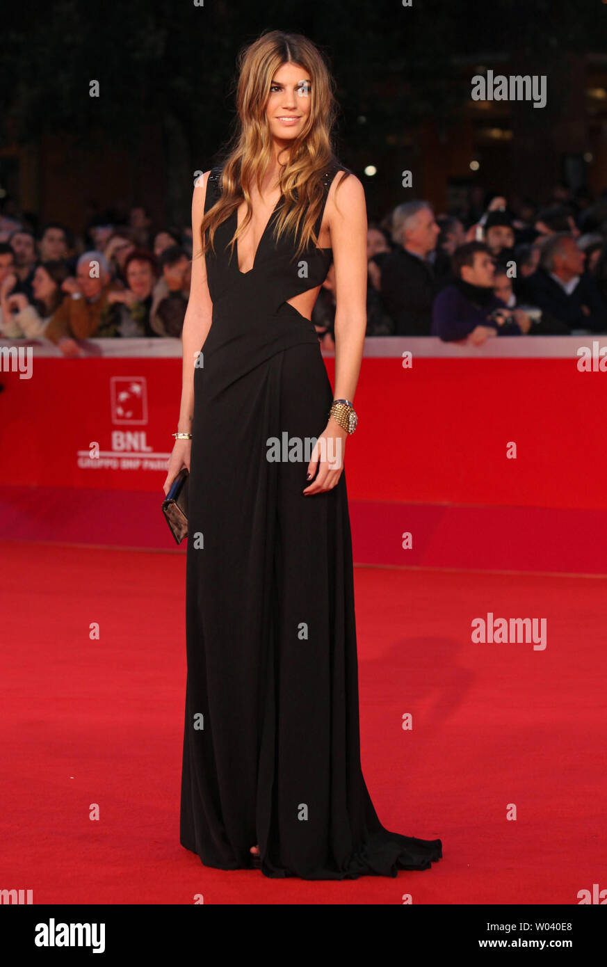 Bianca Brandolini D'Adda arrives on the red carpet before the screening of a digitally restored version of the 1960 classic film 'La Dolce Vita' during the 5th Rome International Film Festival in Rome on October 30, 2010.   UPI/David Silpa - Stock Image