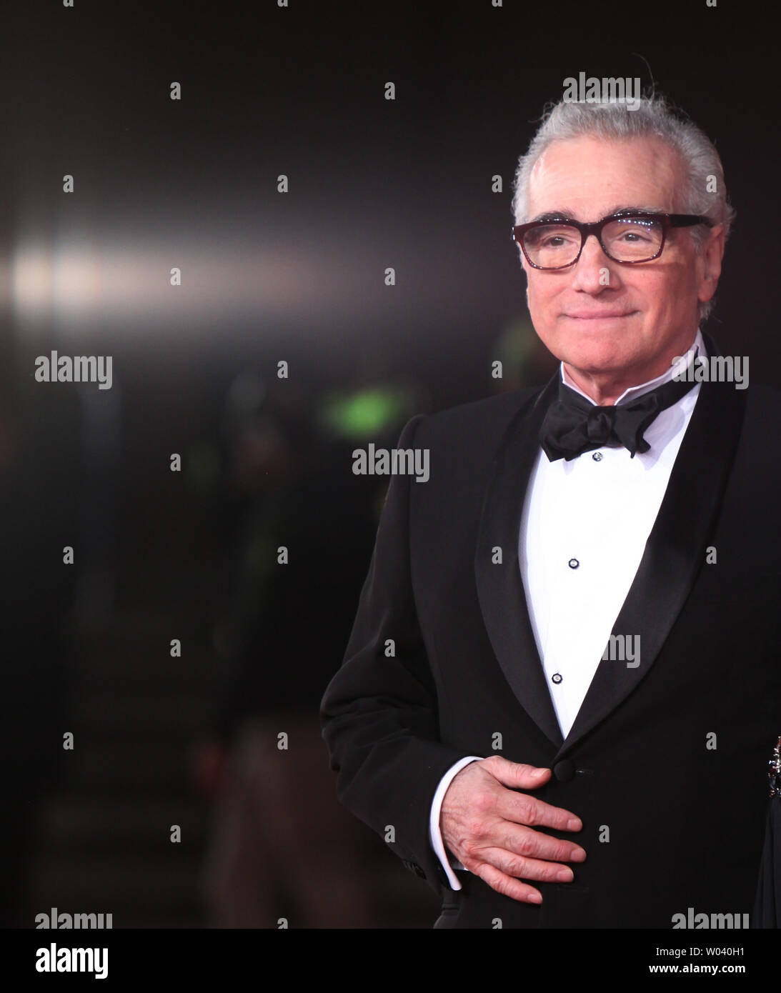 Martin Scorsese arrives on the red carpet before the screening of a digitally restored version of the 1960 classic film 'La Dolce Vita' during the 5th Rome International Film Festival in Rome on October 30, 2010.   UPI/David Silpa - Stock Image