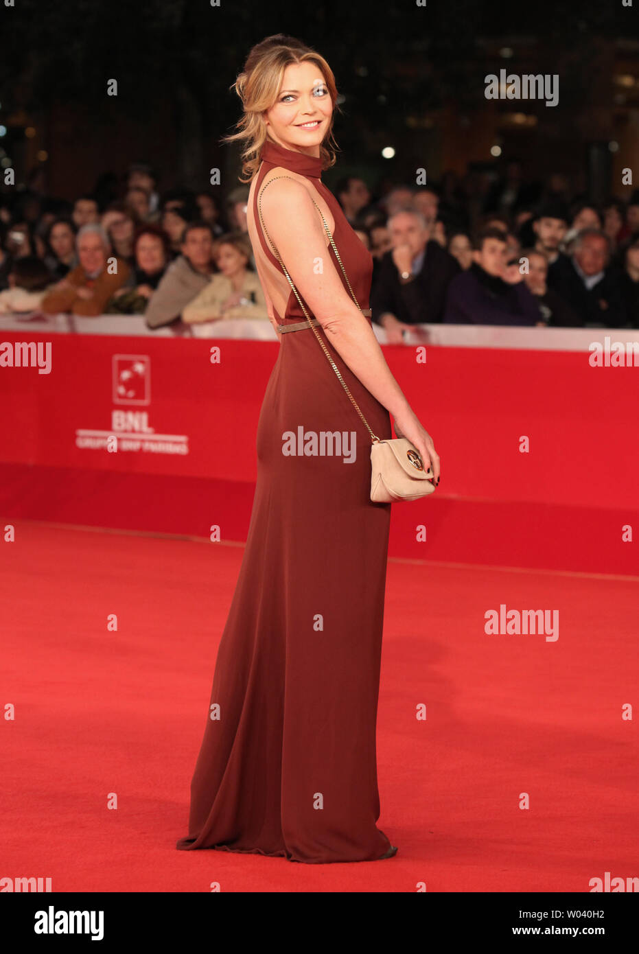 Vittoria Belvedere arrives on the red carpet before the screening of a digitally restored version of the 1960 classic film 'La Dolce Vita' during the 5th Rome International Film Festival in Rome on October 30, 2010.   UPI/David Silpa - Stock Image