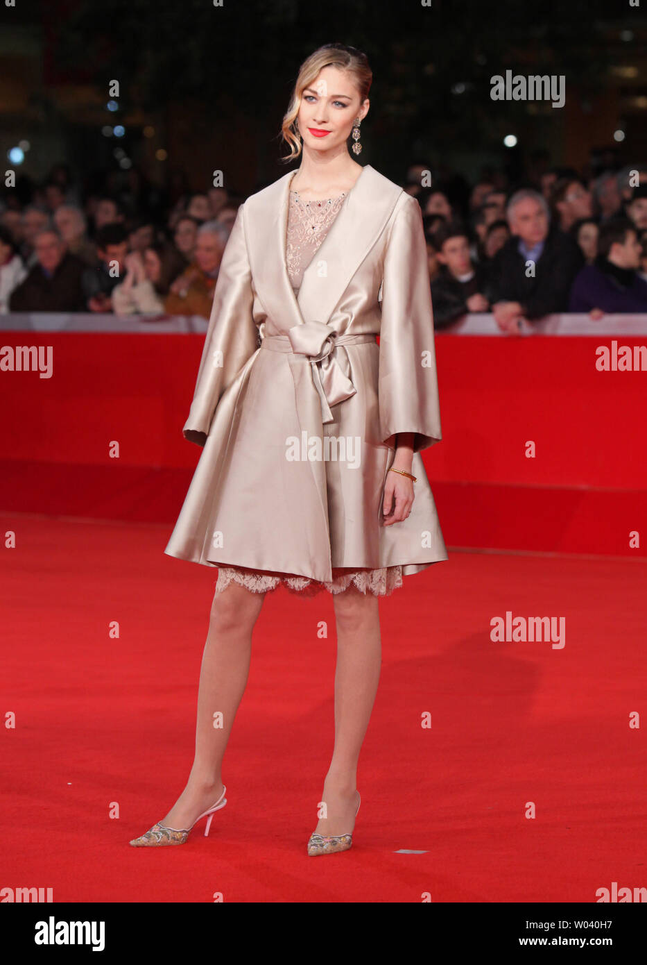 Beatrice Borromeo arrives on the red carpet before the screening of a digitally restored version of the 1960 classic film 'La Dolce Vita' during the 5th Rome International Film Festival in Rome on October 30, 2010.   UPI/David Silpa - Stock Image