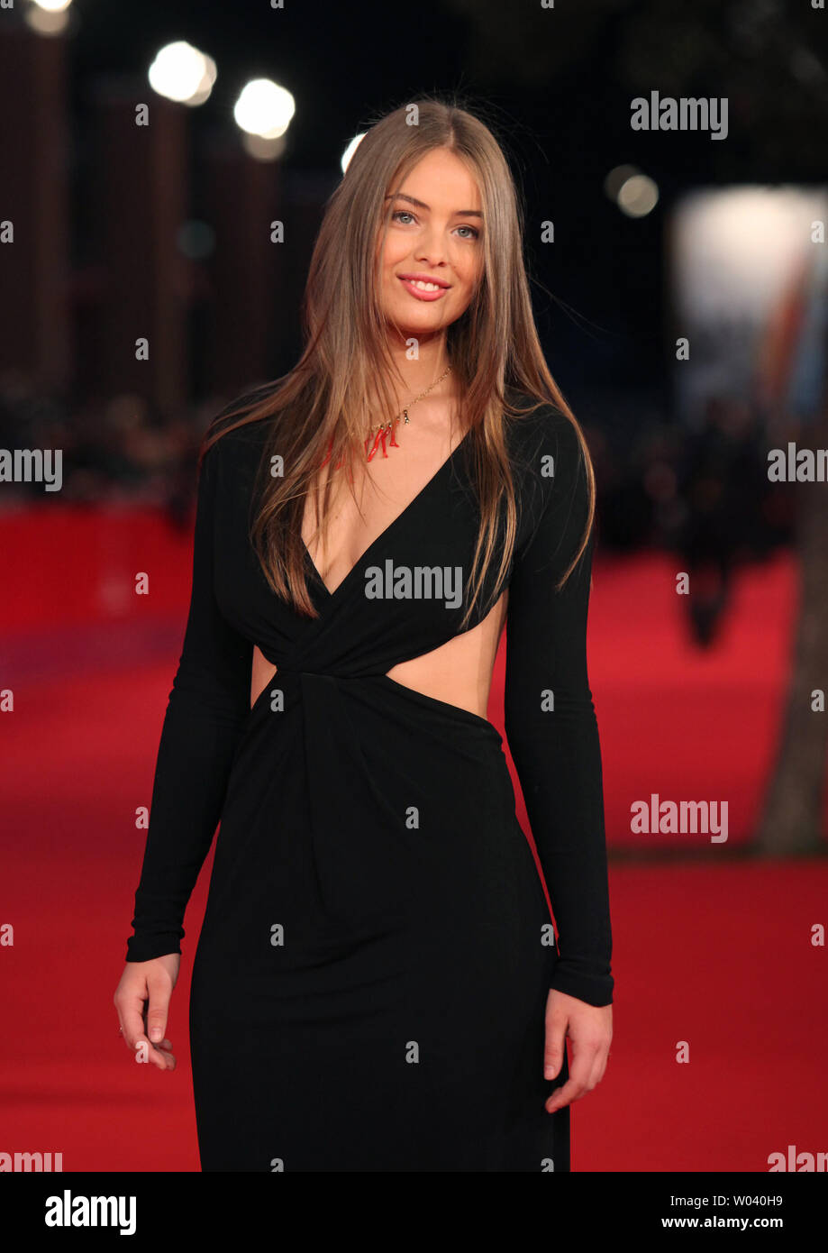 Marie-Ange Casta arrives on the red carpet before the screening of a digitally restored version of the 1960 classic film 'La Dolce Vita' during the 5th Rome International Film Festival in Rome on October 30, 2010.   UPI/David Silpa - Stock Image