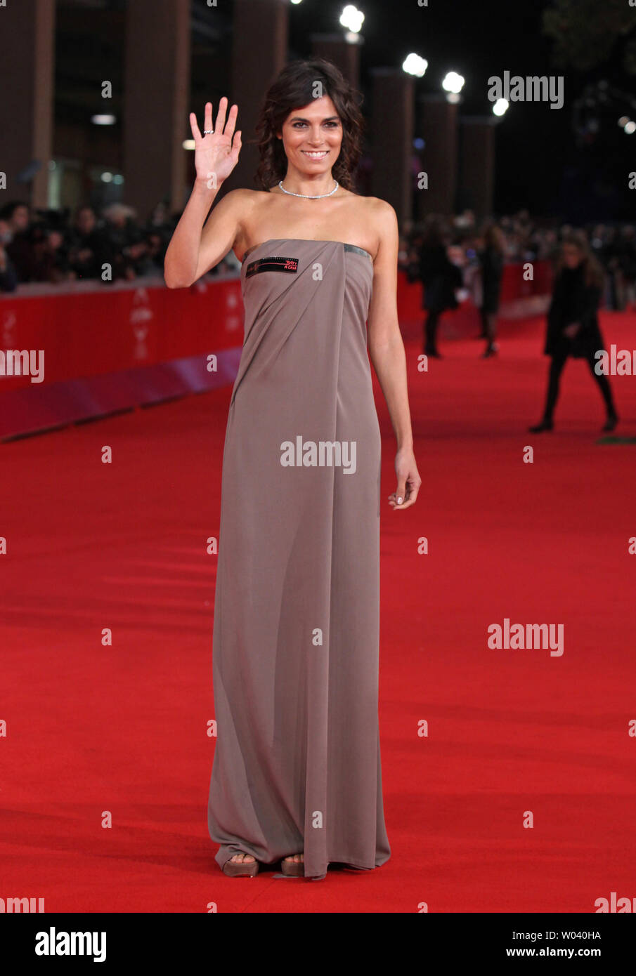 Valeria Solarino arrives on the red carpet before the screening of a digitally restored version of the 1960 classic film 'La Dolce Vita' during the 5th Rome International Film Festival in Rome on October 30, 2010.   UPI/David Silpa - Stock Image