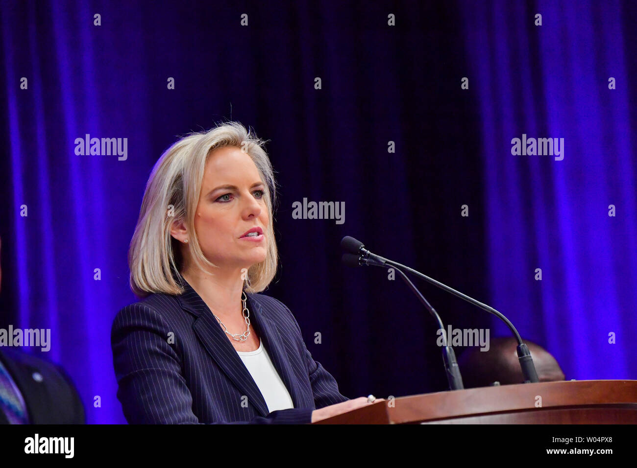 Kirstjen Nielsen, Secretary of Homeland Security, speaks at a