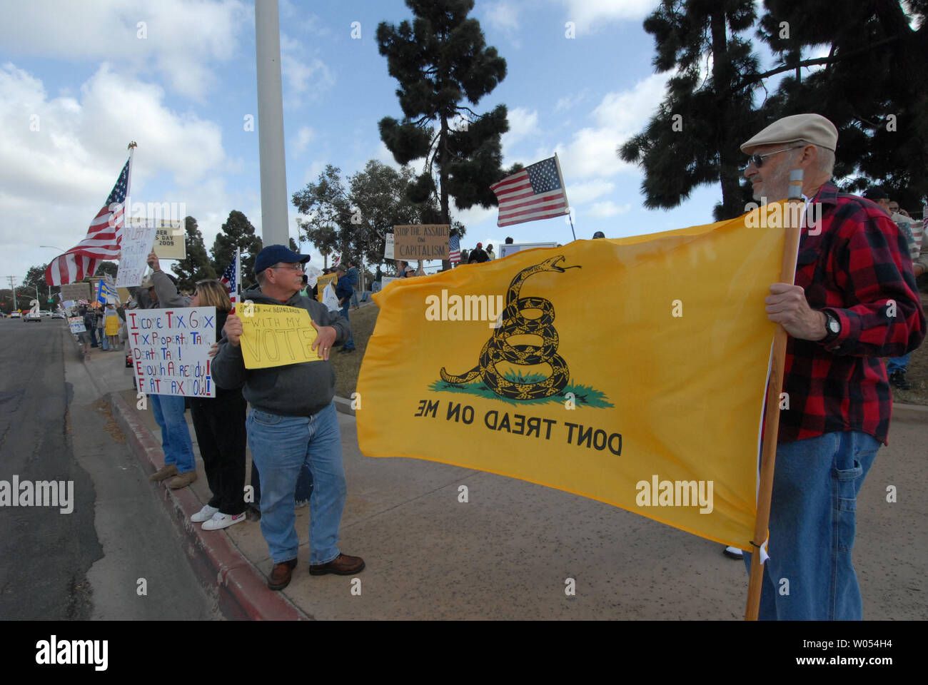Several hundred protesters participate in a anti-tax protest