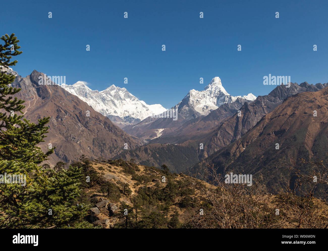 Everest Base Camp Trek, Sagarmatha National Park, Nepal - Stock Image