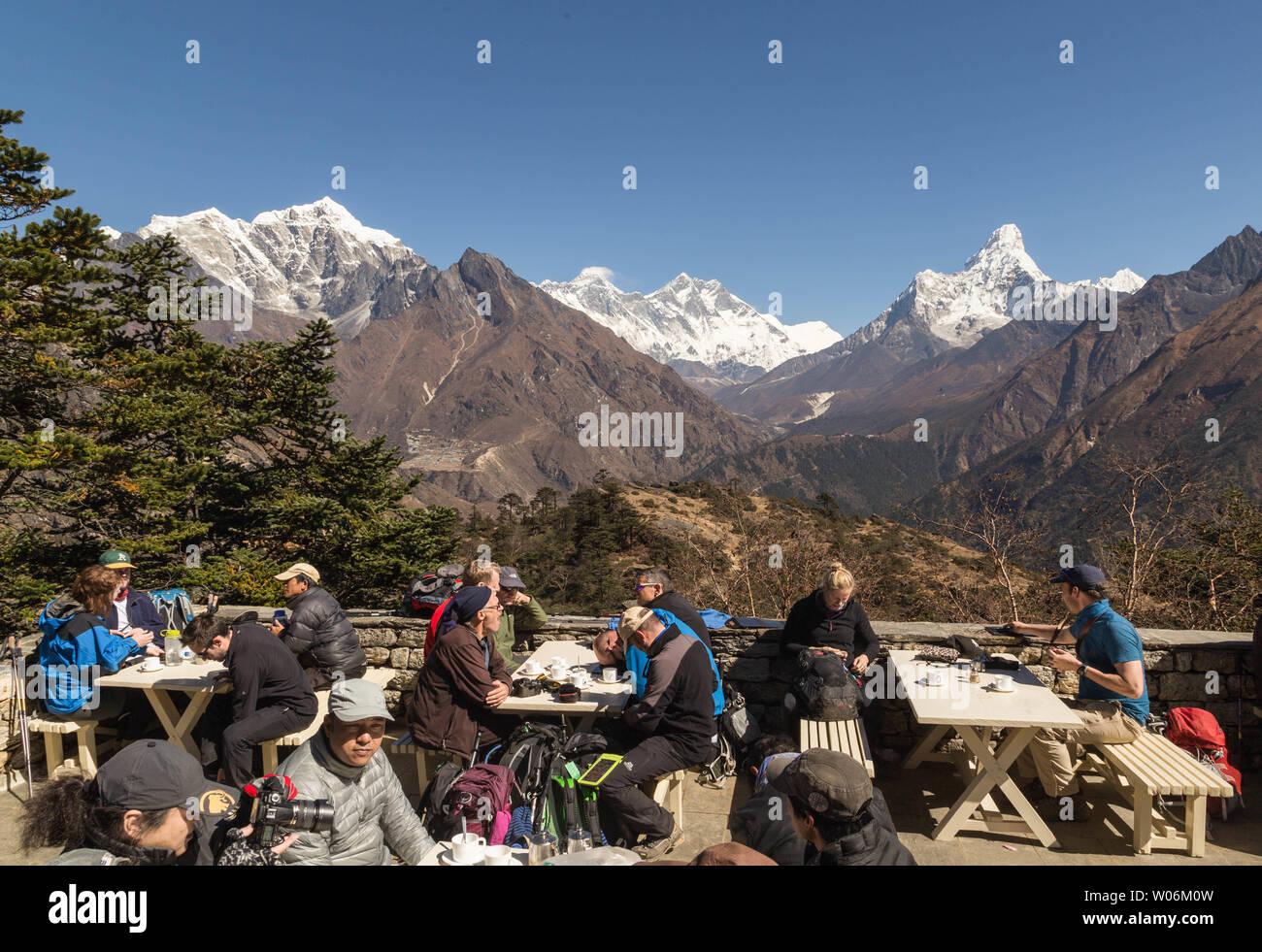 Hotel Everest view, Everest Base Camp Trek, Sagarmatha National Park, Nepal - Stock Image