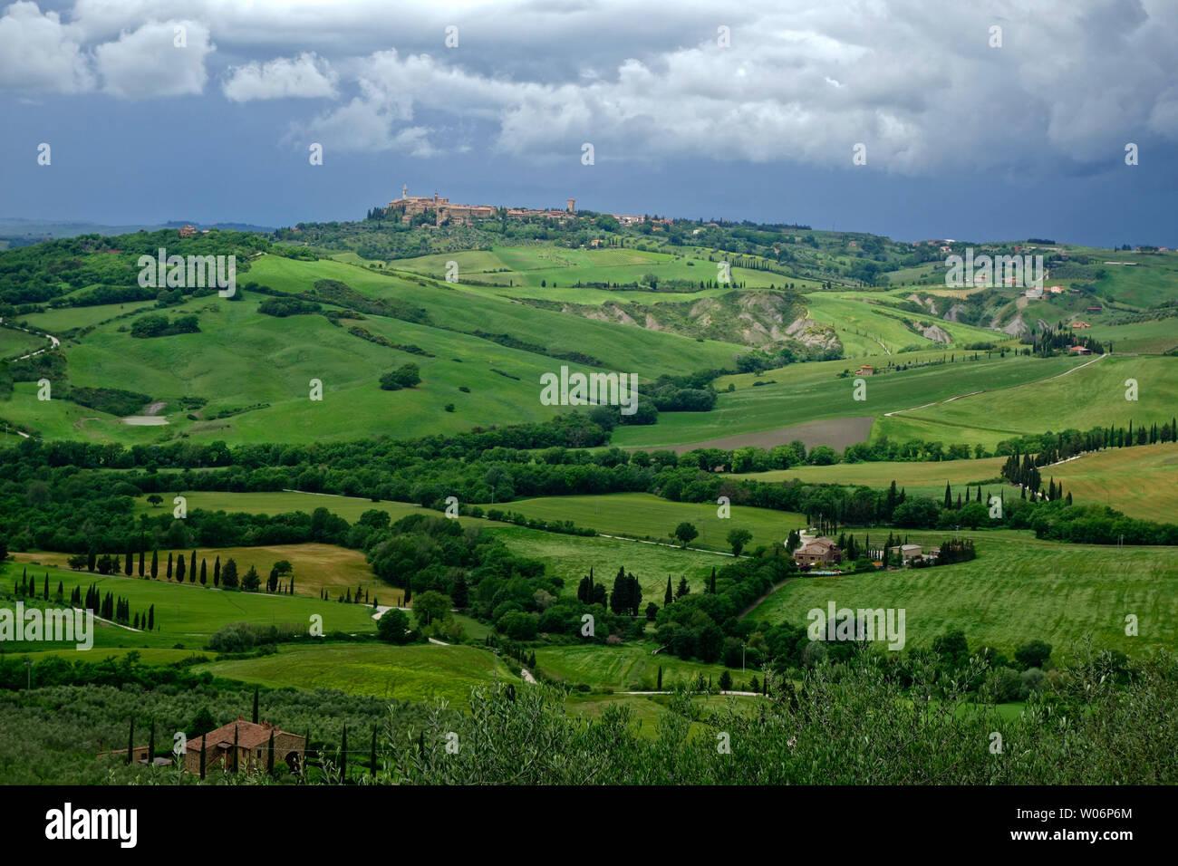 AROUND PIENZA . TUSCANY . ITALY - Stock Image