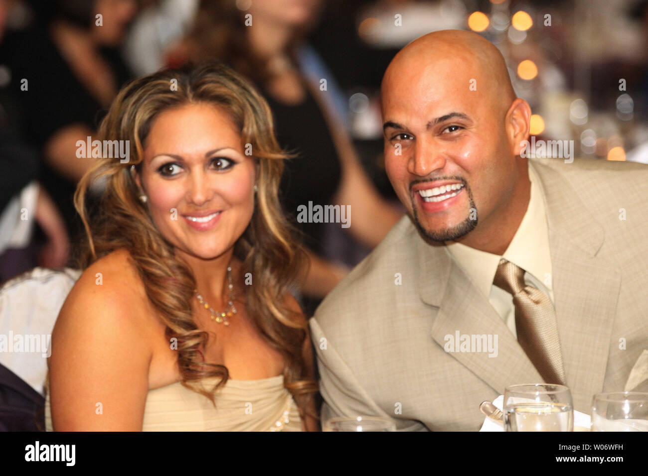 St Louis Cardinals Albert Pujols And Wife Diedra Have A Laugh During The Pujols Family Foundation