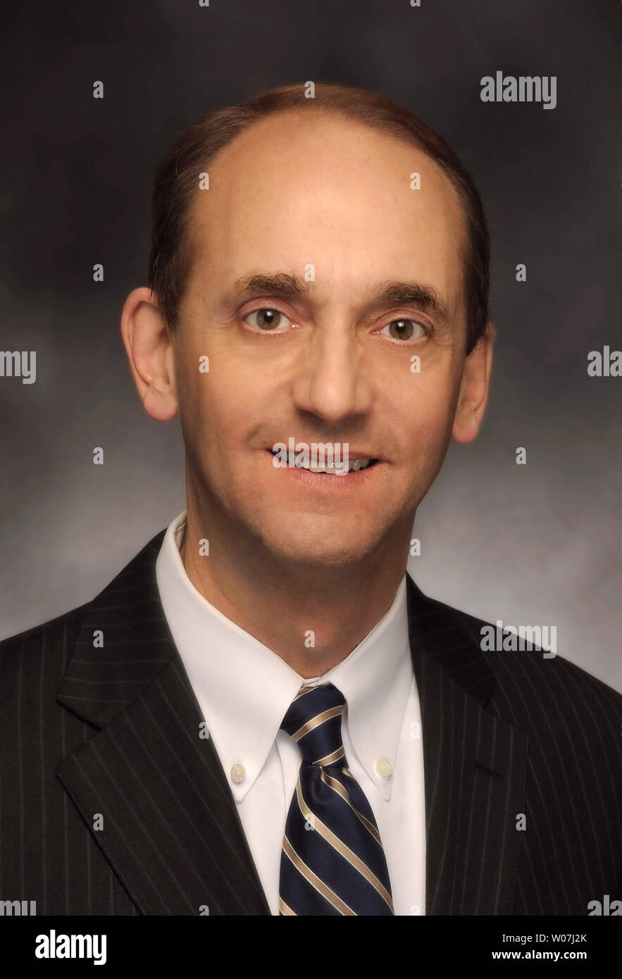 Missouri State Auditor Tom Schweich had died from an apparent self inflicted gunshot wound in Clayton, Missouri on February 26, 2015. Schweich, (54) who is a Republican, announced in January that he was seeking the Republican nomination for Governor in 2016. Photo provided by Missouri State Auditors office/UPI - Stock Image