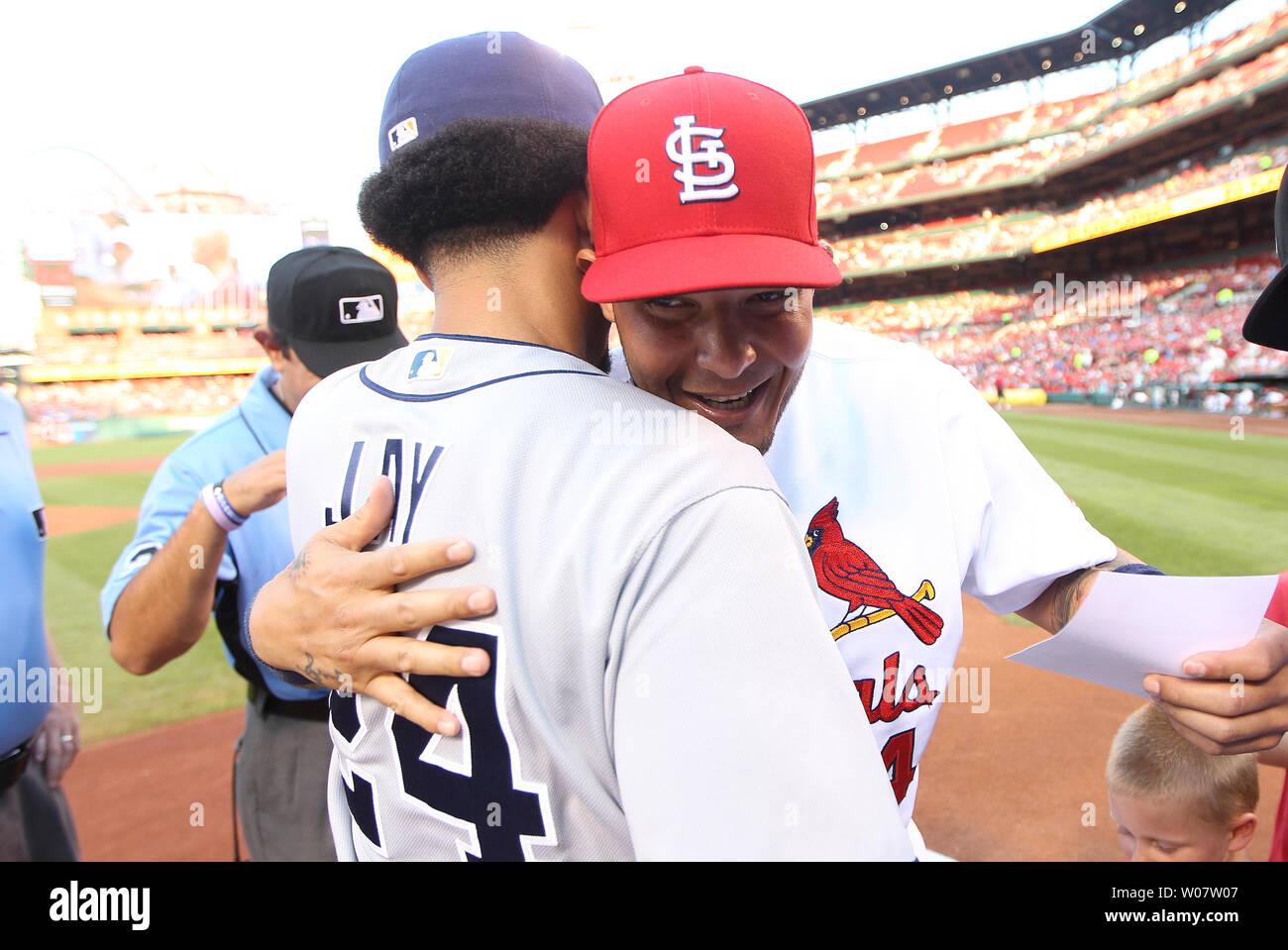 San Diego Padres Jon Jay And St Louis Cardinals Yadier Molina