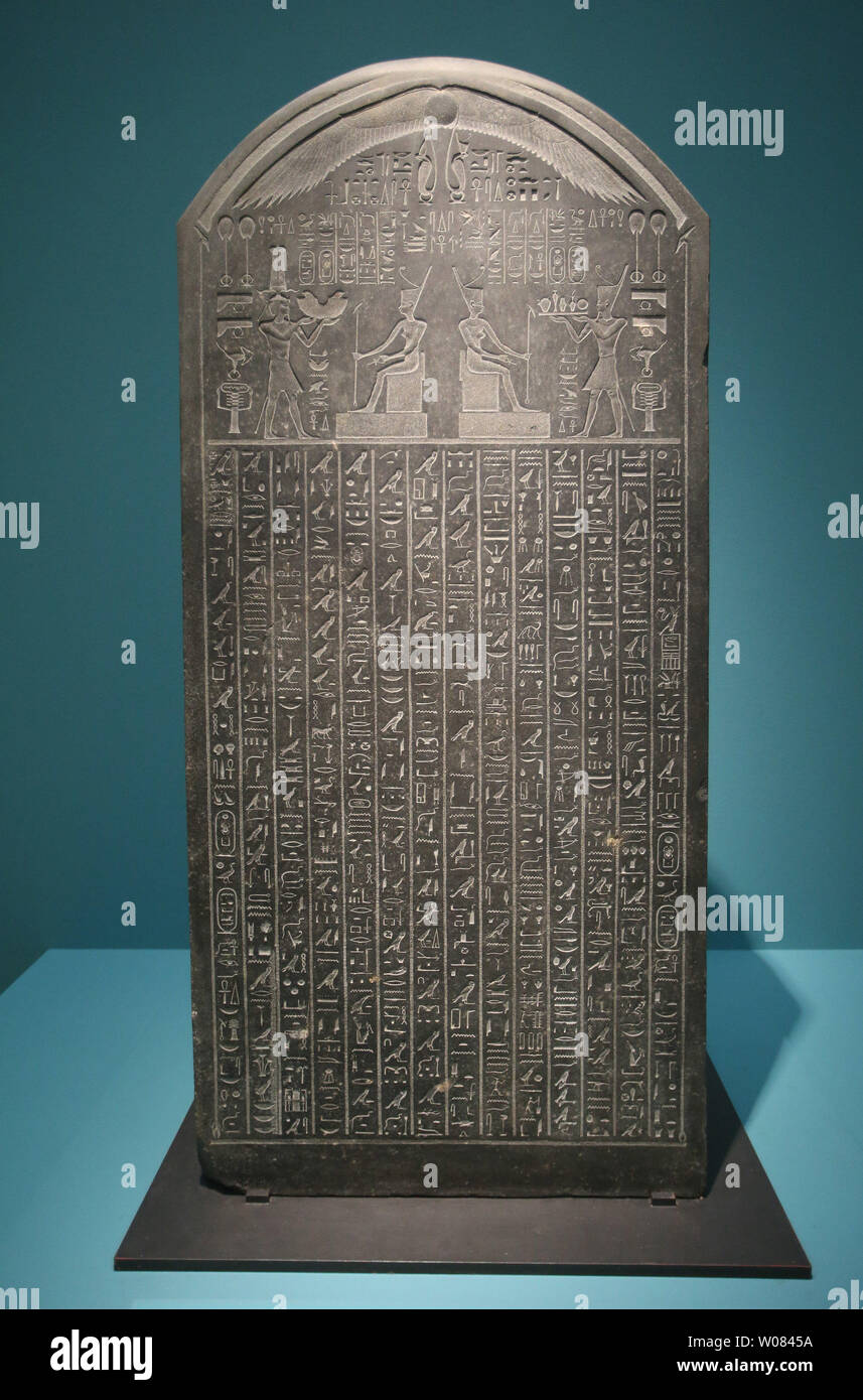 A Slate Of Thonis Heracleion Made About 380 Bc And Recovered