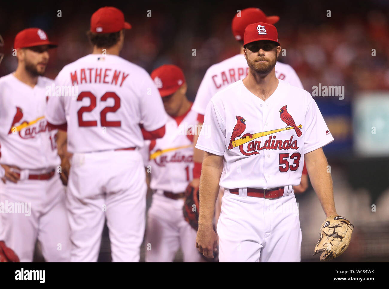buy popular a2b98 89a1a St. Louis Cardinals starting pitcher John Gant leaves the ...