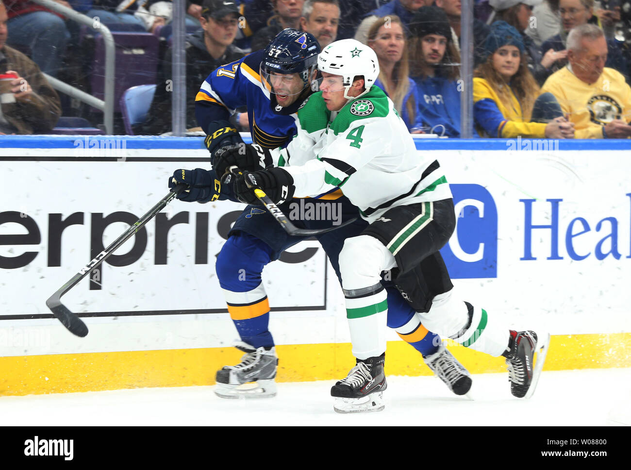 pretty nice e19a7 6cc2f Dallas Stars Miro Heiskanen of Finland races St. Louis Blues ...
