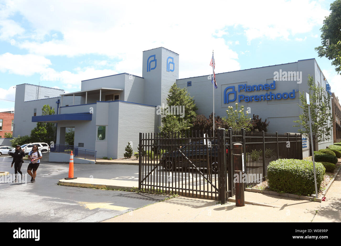 Women leave the Planned Parenthood facility in St  Louis on