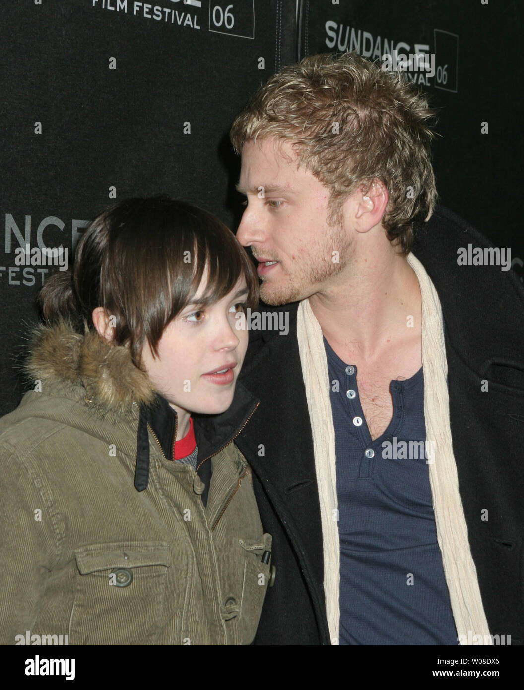 Ellen Page And Ben Foster Arrive At The Premiere Of Alpha Dog At The Eccles Center For Sundance 06 On January 26 2006 In Park City Utah Upi Photo Roger Wong Stock Photo Alamy