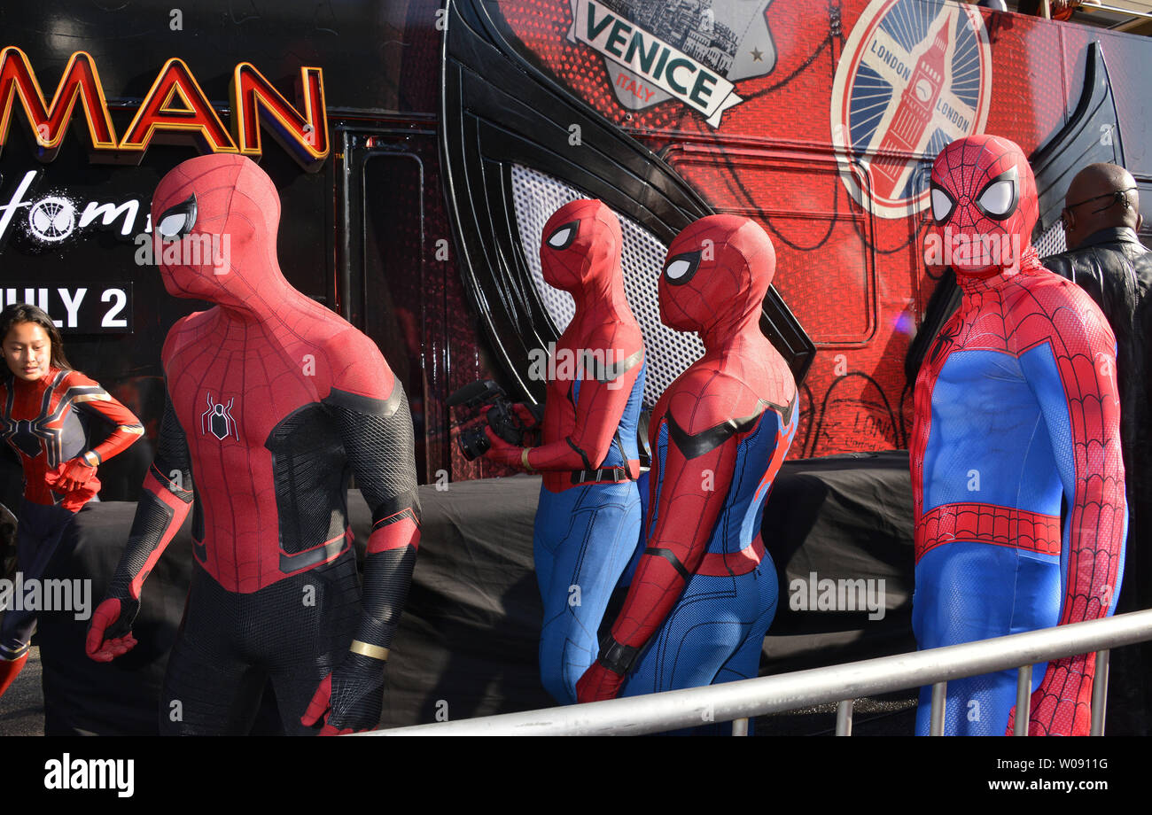 Spider Man Far From Home Stock Photos & Spider Man Far From
