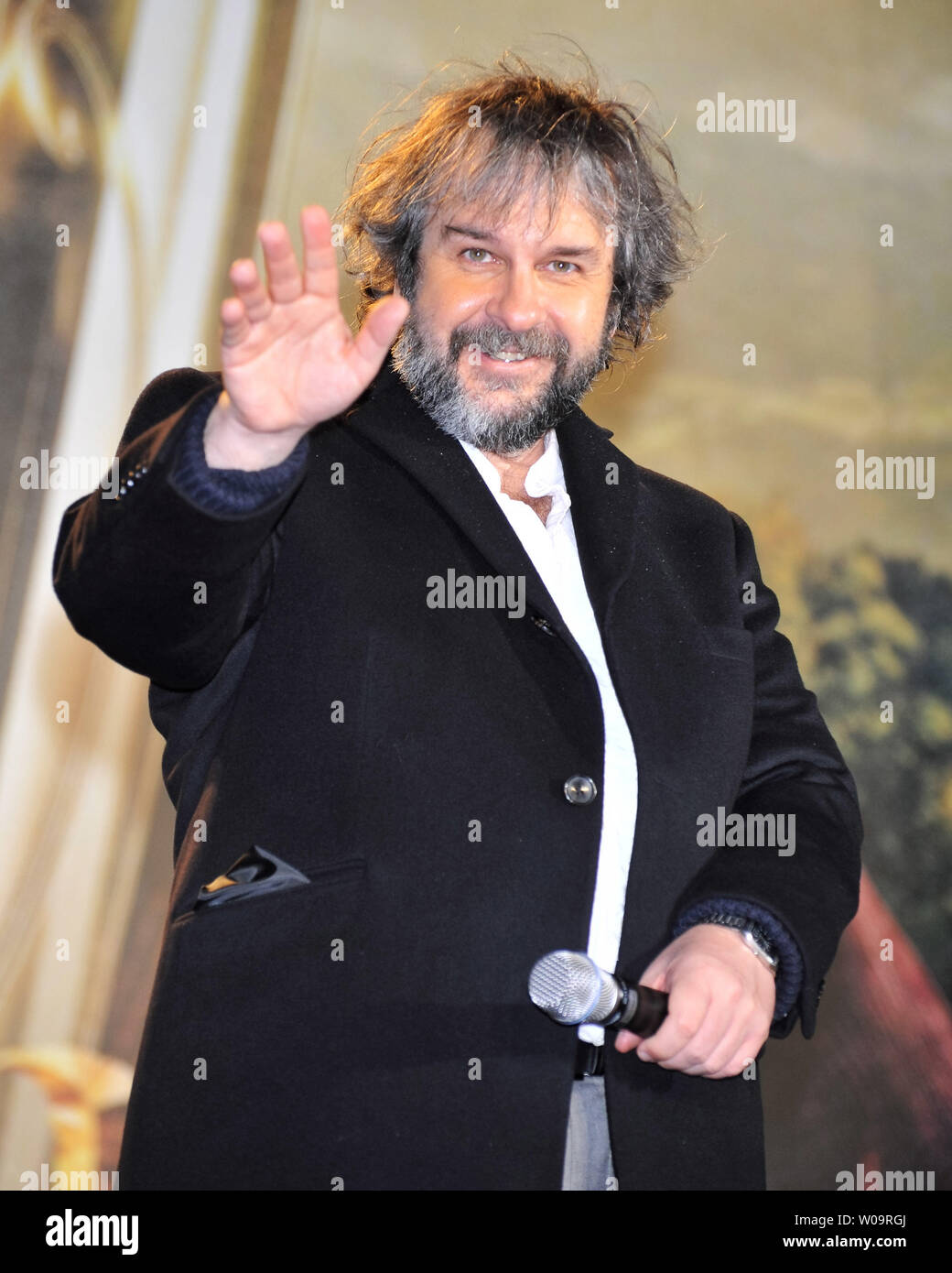 """Director Peter Jackson attends the Japan premiere for the film """"The Hobbit: An Unexpected Journey"""" in Tokyo, Japan, on December 1, 2012. The film will open on December 14 in Japan.     UPI/Keizo Mori Stock Photo"""