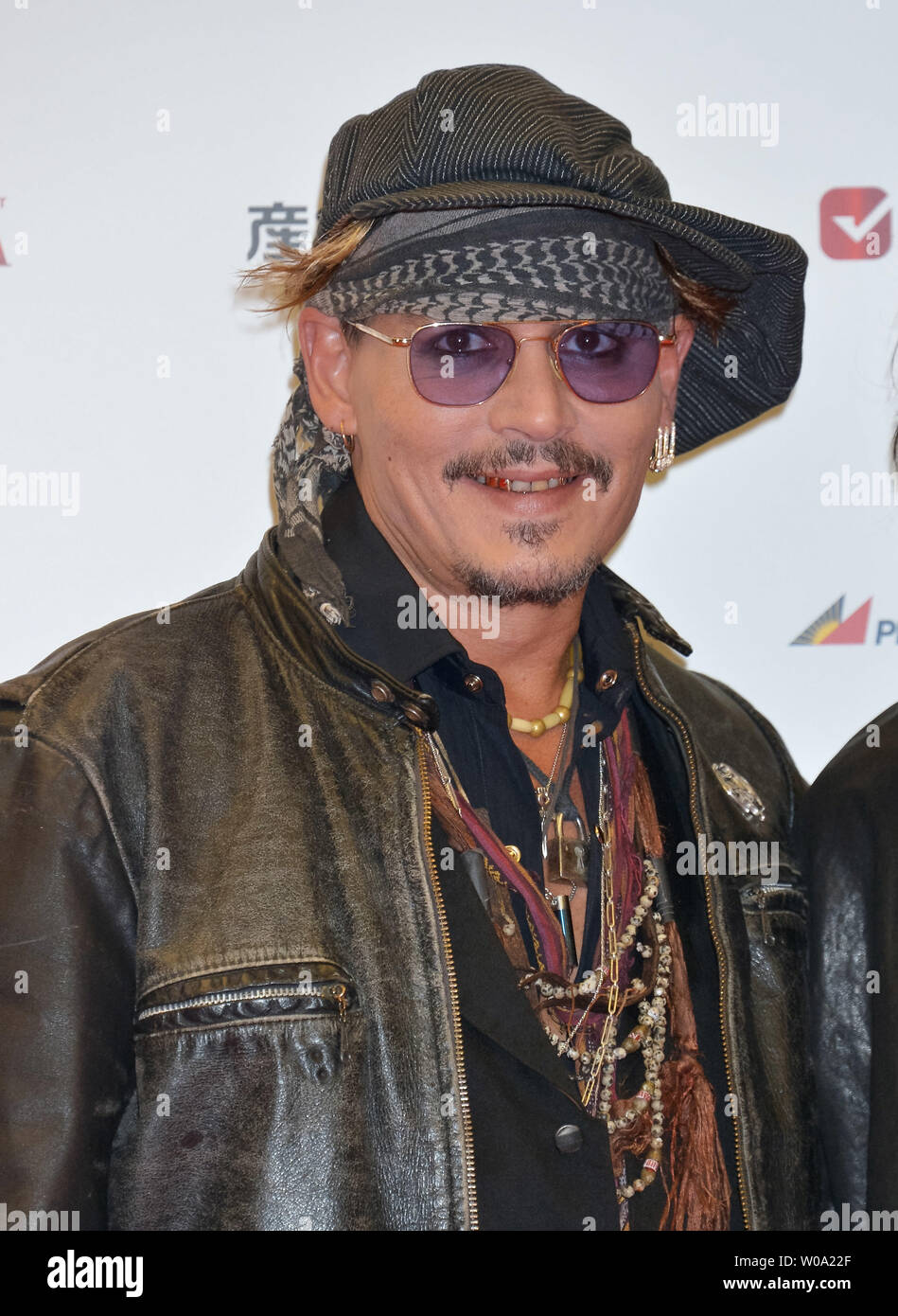 695d2275a9ef Actor Johnny Depp arrives on the red carpet for the 'Classic Rock Awards  2016'