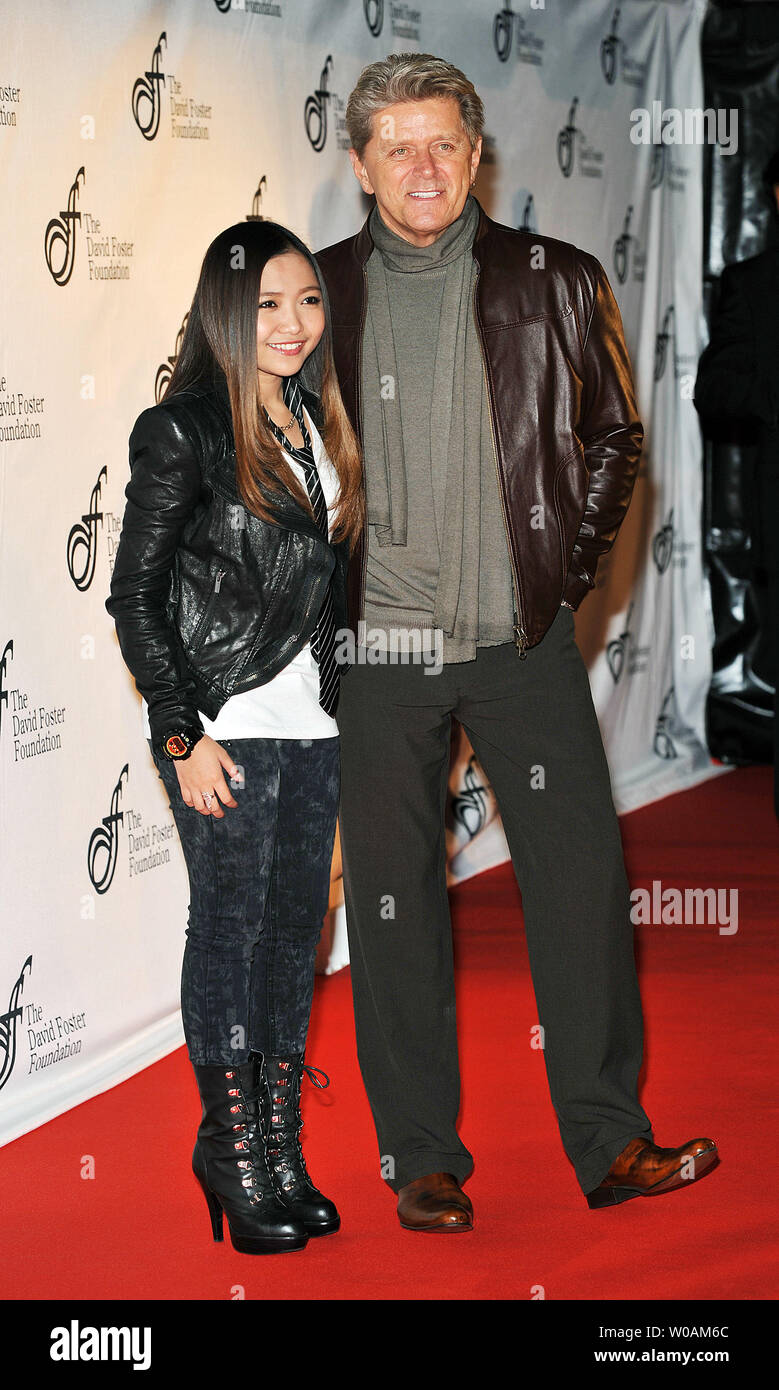 Charice L And Peter Cetera Member Of Iconic Rock Band Chicago Attend The David Foster Foundation